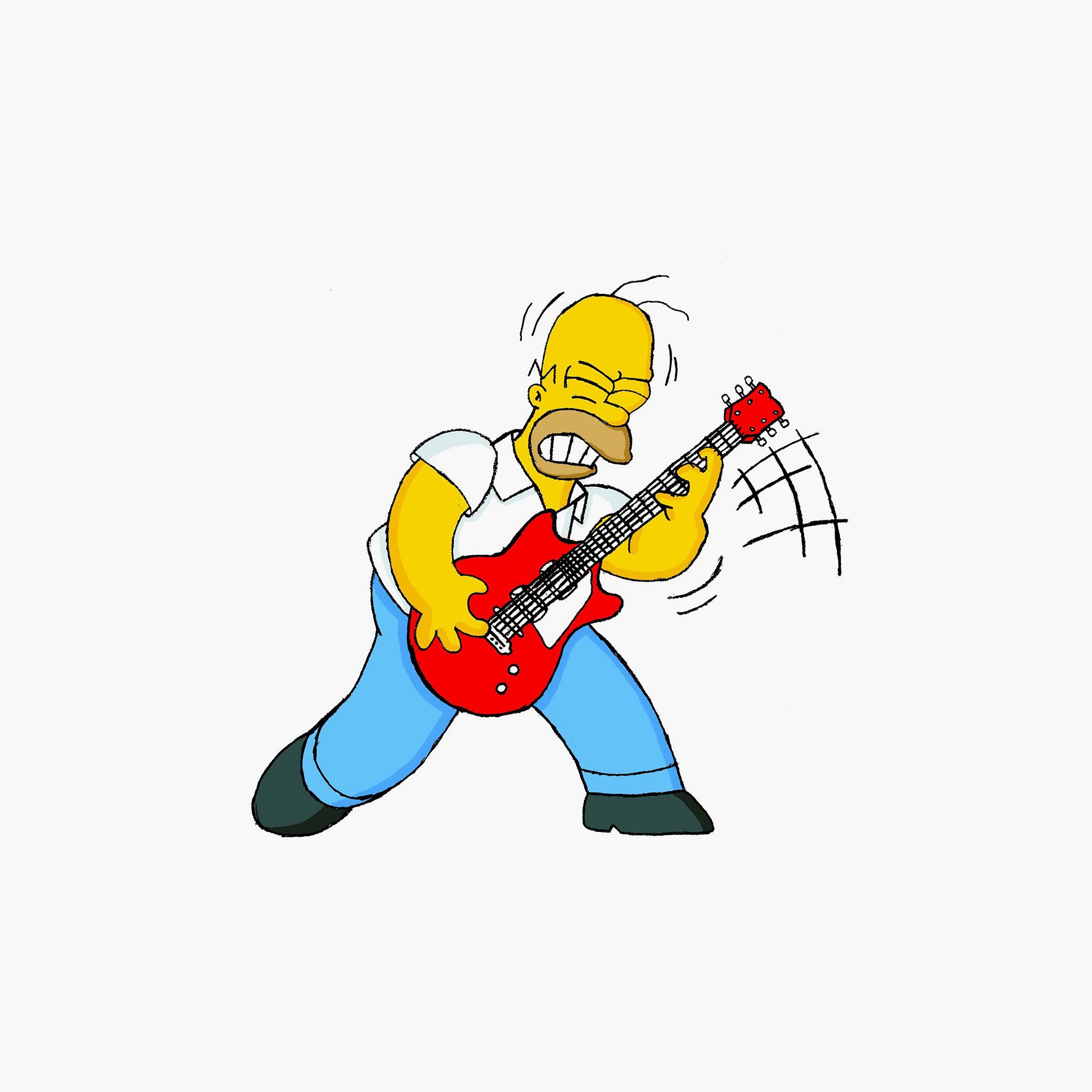 Rick And Morty Wallpaper Iphone Au45 Homer Simpson Guitar Cartoon Illustration Art Wallpaper