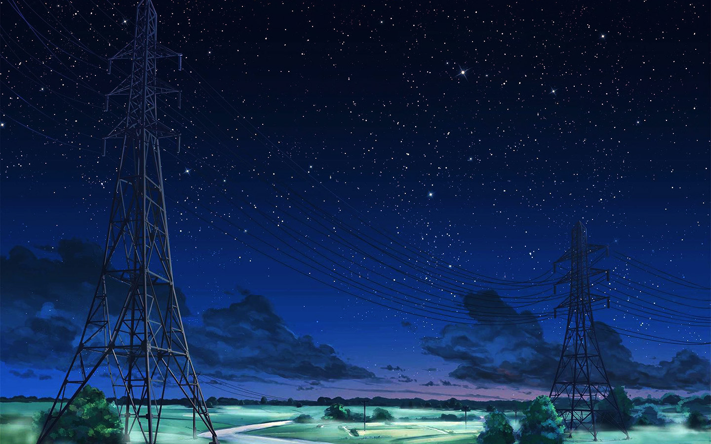 Large Hd Wallpapers For Laptop Aw16 Arseniy Chebynkin Night Sky Star Blue Illustration