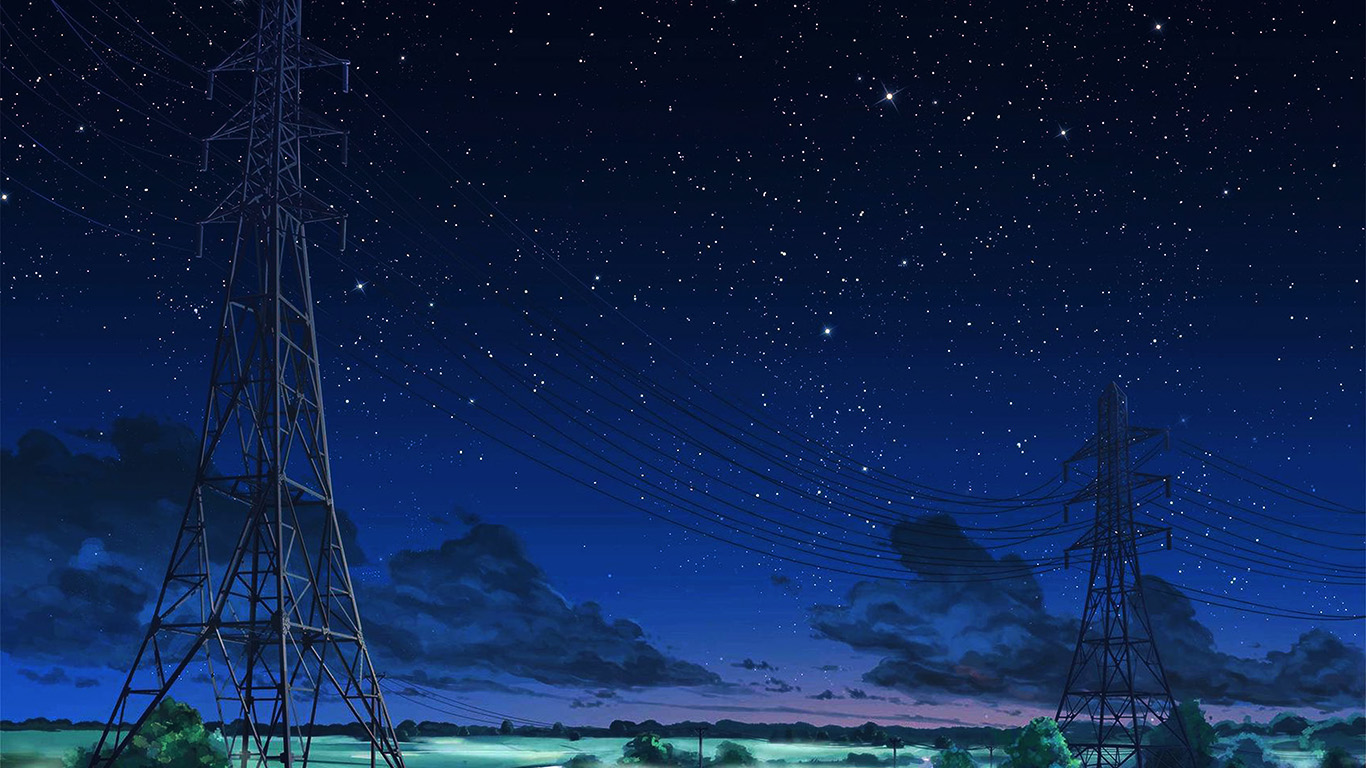 Large Fall Desktop Wallpaper Aw16 Arseniy Chebynkin Night Sky Star Blue Illustration