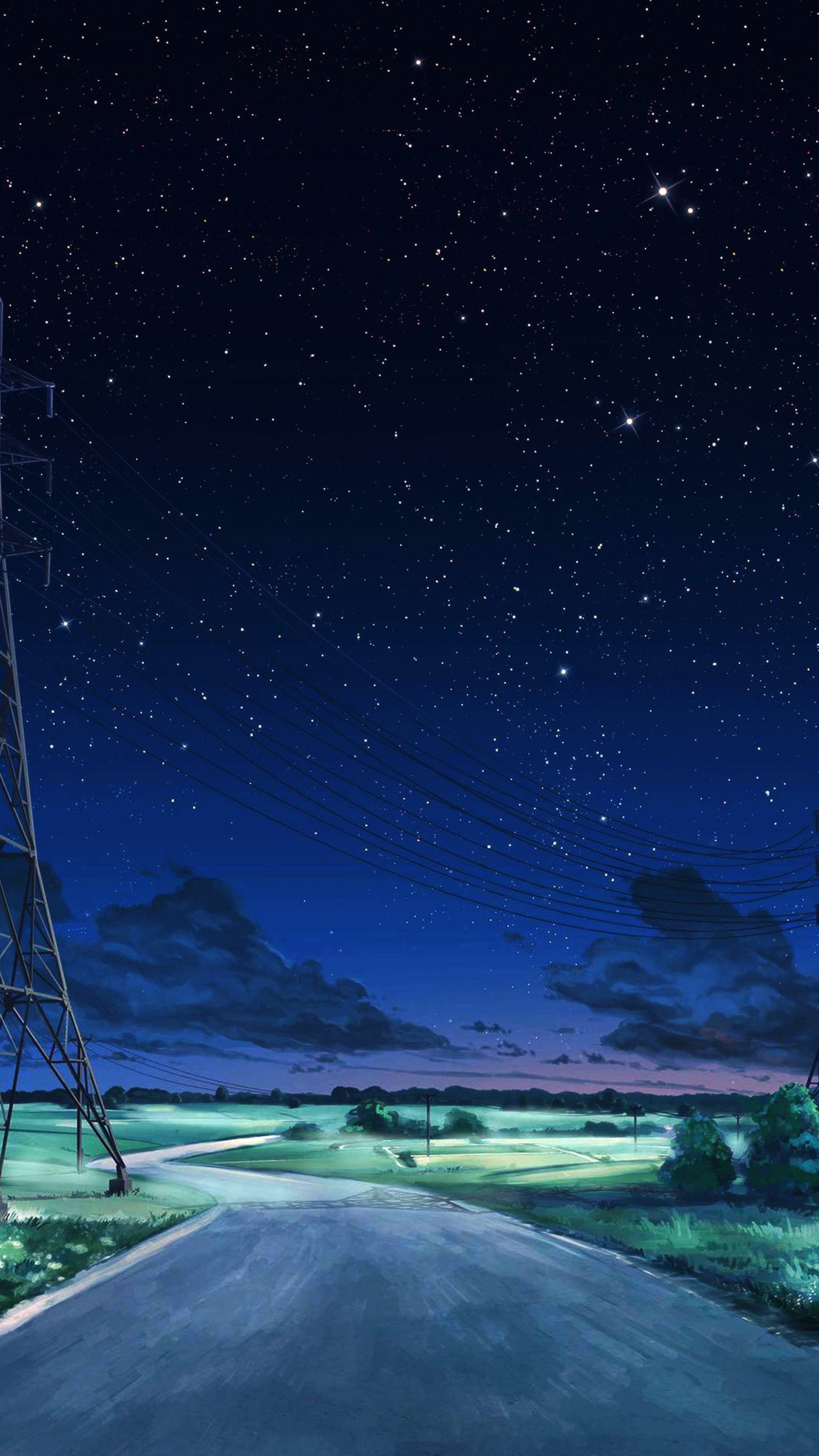 Cute Animated Wallpapers Hd Aw16 Arseniy Chebynkin Night Sky Star Blue Illustration