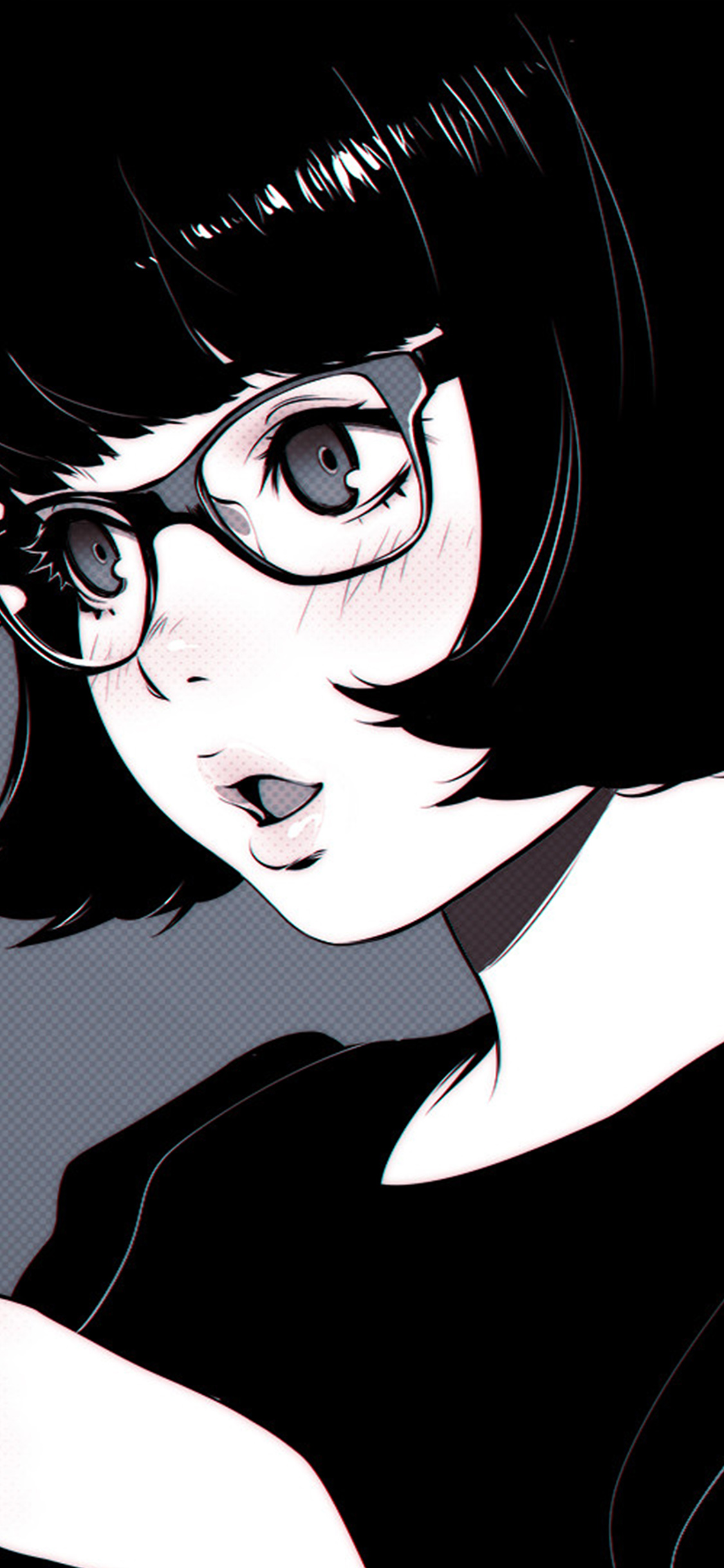 Galaxy Wallpaper For Iphone 4 Aw22 Girl Bw Anime Ilya Kuvshinov Illustration Art Wallpaper