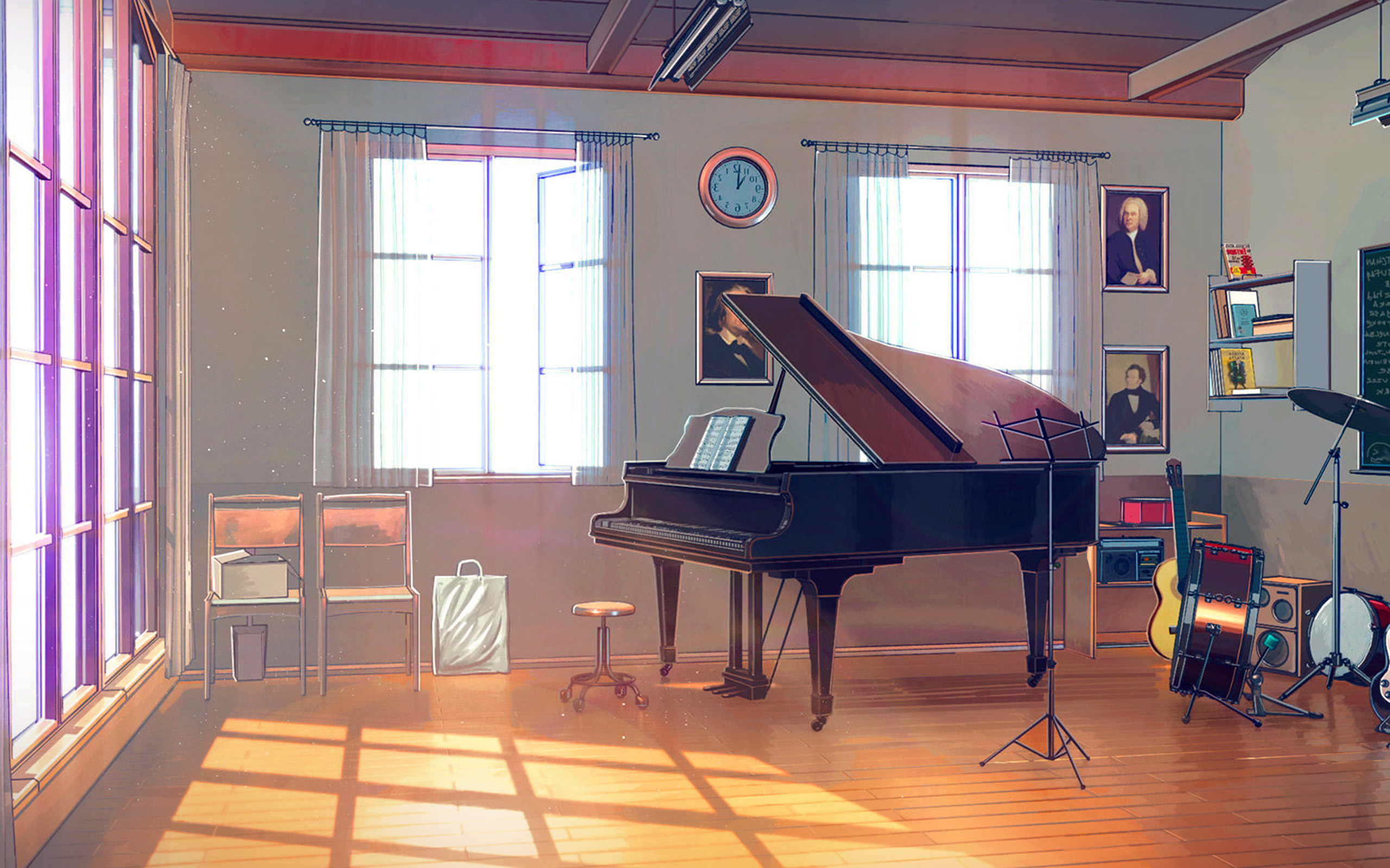 Car Wallpapers For Iphone Se Aw49 Arseniy Chebynkin Music Room Piano Illustration Art