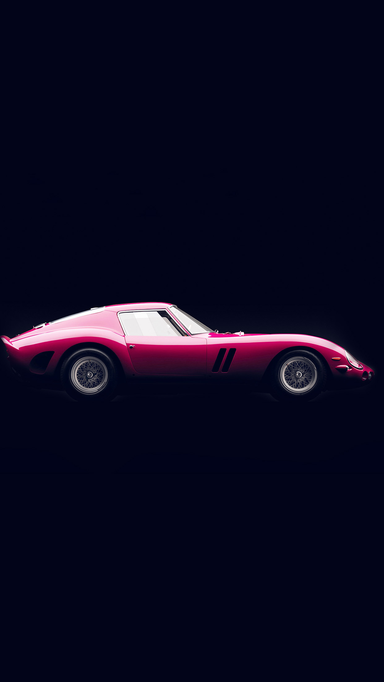 Wallpaper Cute For Iphone 6 Plus Aw62 Supercar Pink Ferrari 250 Gto Seriesi Illustration