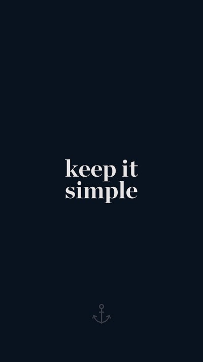 I Love Papers | aw76-keep-it-simple-word-quote-dark-blue-illustration-art