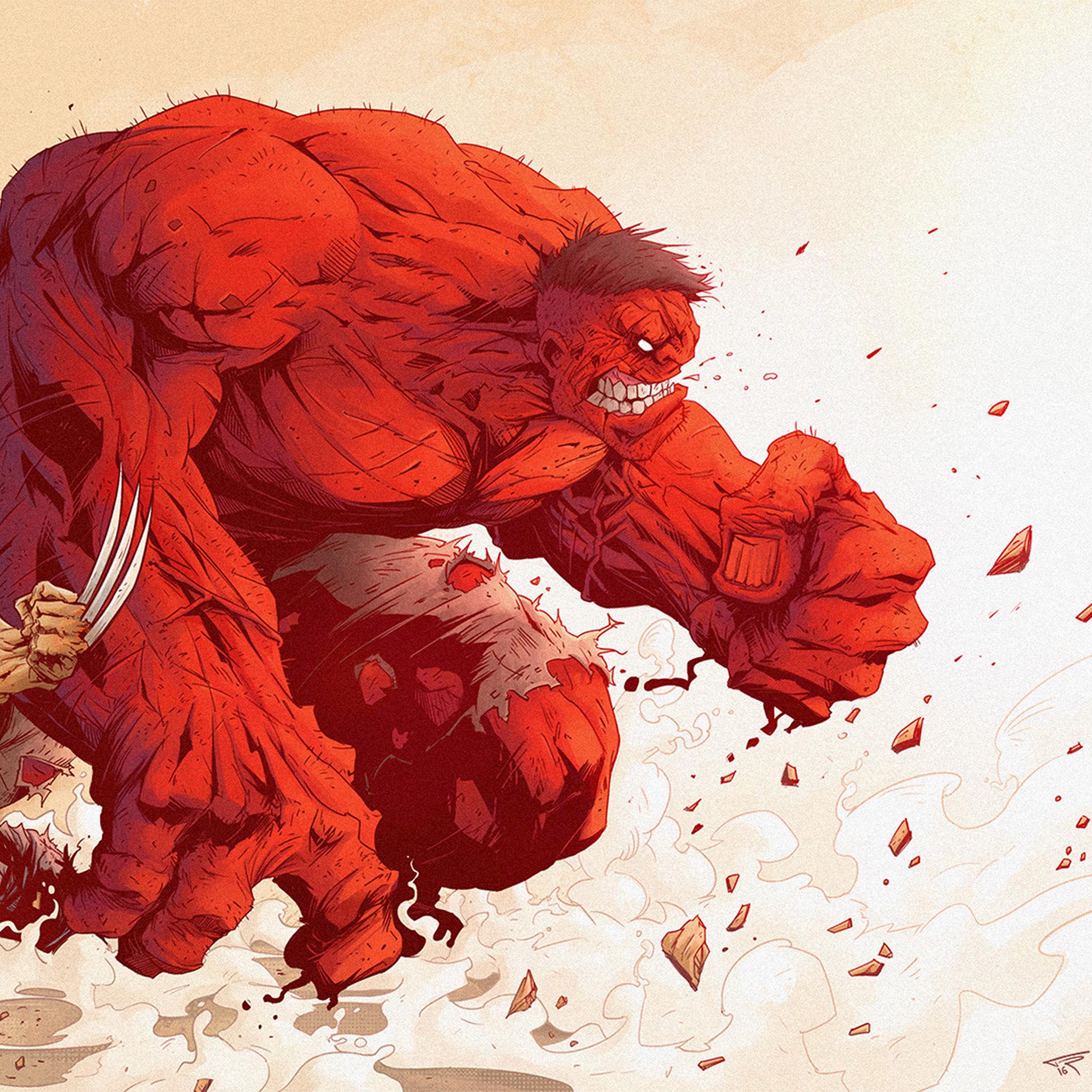 X Men Iphone Wallpaper Hd Aw95 Hulk Anime Tonton Revolver Illustration Art Red Hero