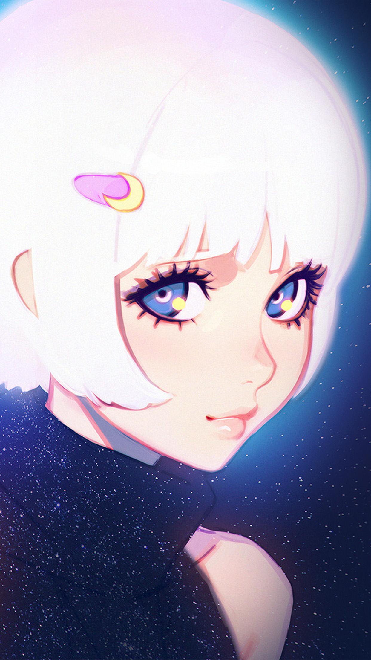 Cute Small Girl Wallpaper Ax55 Ilya Kuvshinov Illustration Art Girl Dark White Hair