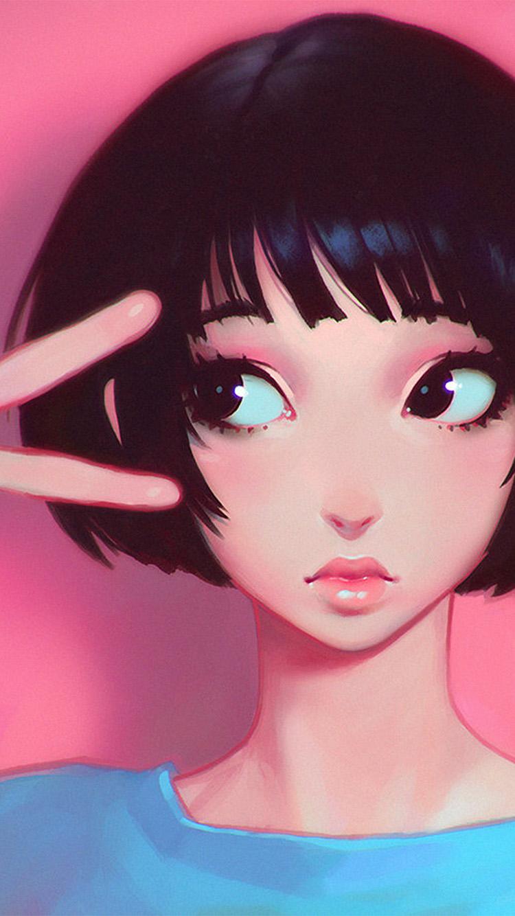 Imac Girl Wallpaper Ay03 Ilya Kuvshinov Pink Girl Illustration Art Wallpaper