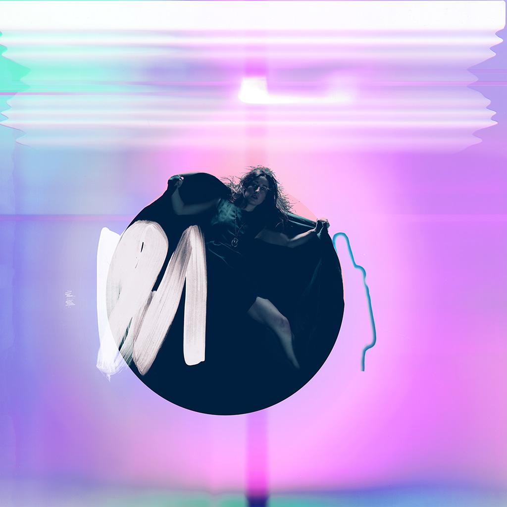 Girl Wallpaper For Iphone 4 Ay70 Album Art Girl Neon Light Minimal Illustration Art
