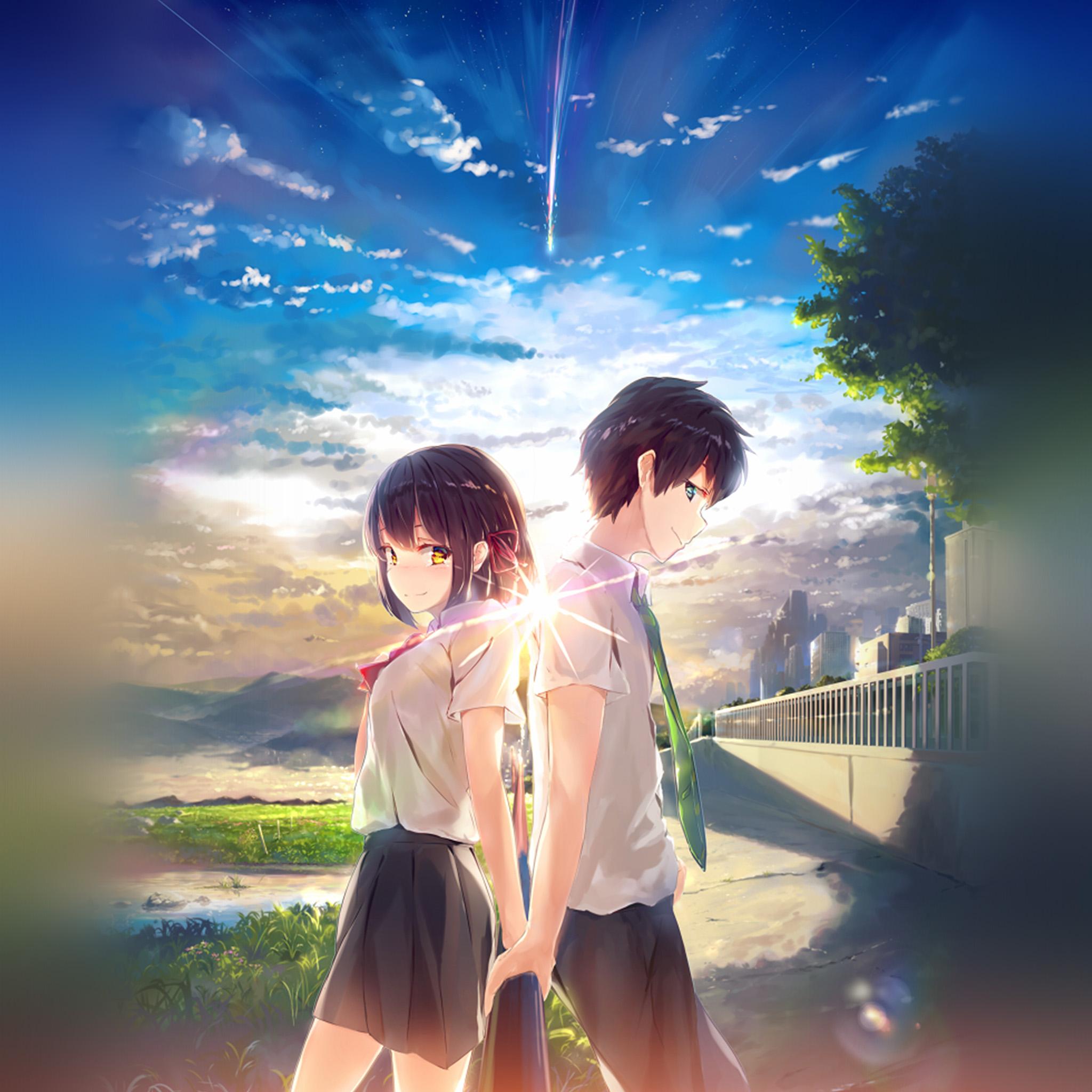 Imac Girl Wallpaper Az03 Anime Yourname Sky Illustration Art Wallpaper
