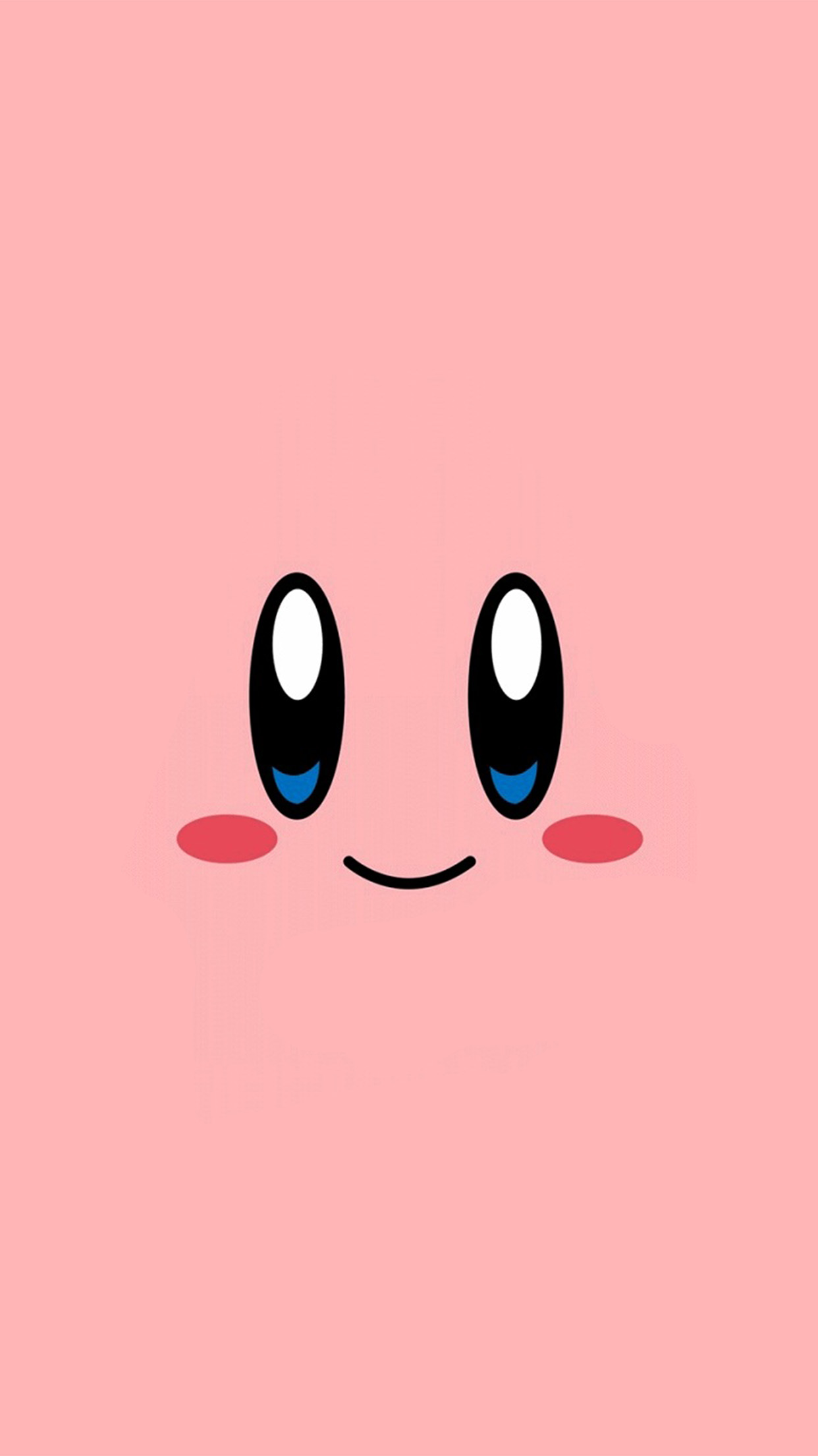 Cute Animated Wallpapers For Android Az54 Kirby Pink Face Cute Illustration Art Wallpaper
