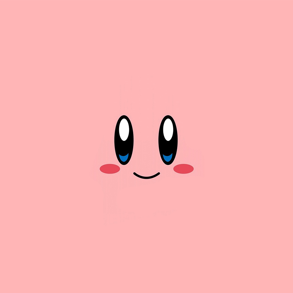 Doraemon Wallpaper Iphone Az54 Kirby Pink Face Cute Illustration Art Wallpaper