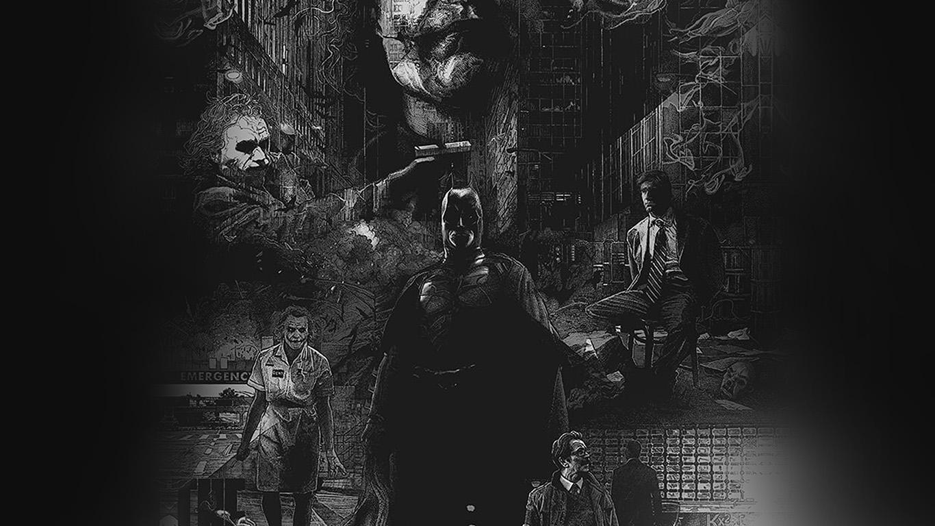 Classic Fall Wallpaper Az95 Joker Batman Poster Film Hero Illustration Art Wallpaper