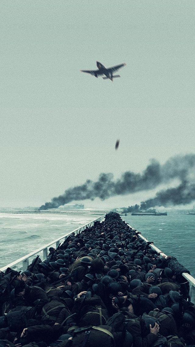 Airplane Wallpaper Iphone X Ba22 Film War Dunkirk Boat Ship Illustration Art Wallpaper