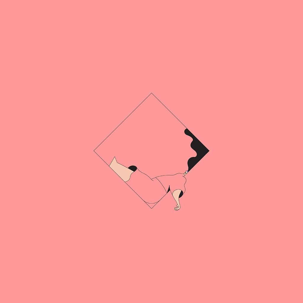 Lg Optimus Wallpaper Hd Bb08 Minimal Drawing Pink Illustration Art Wallpaper