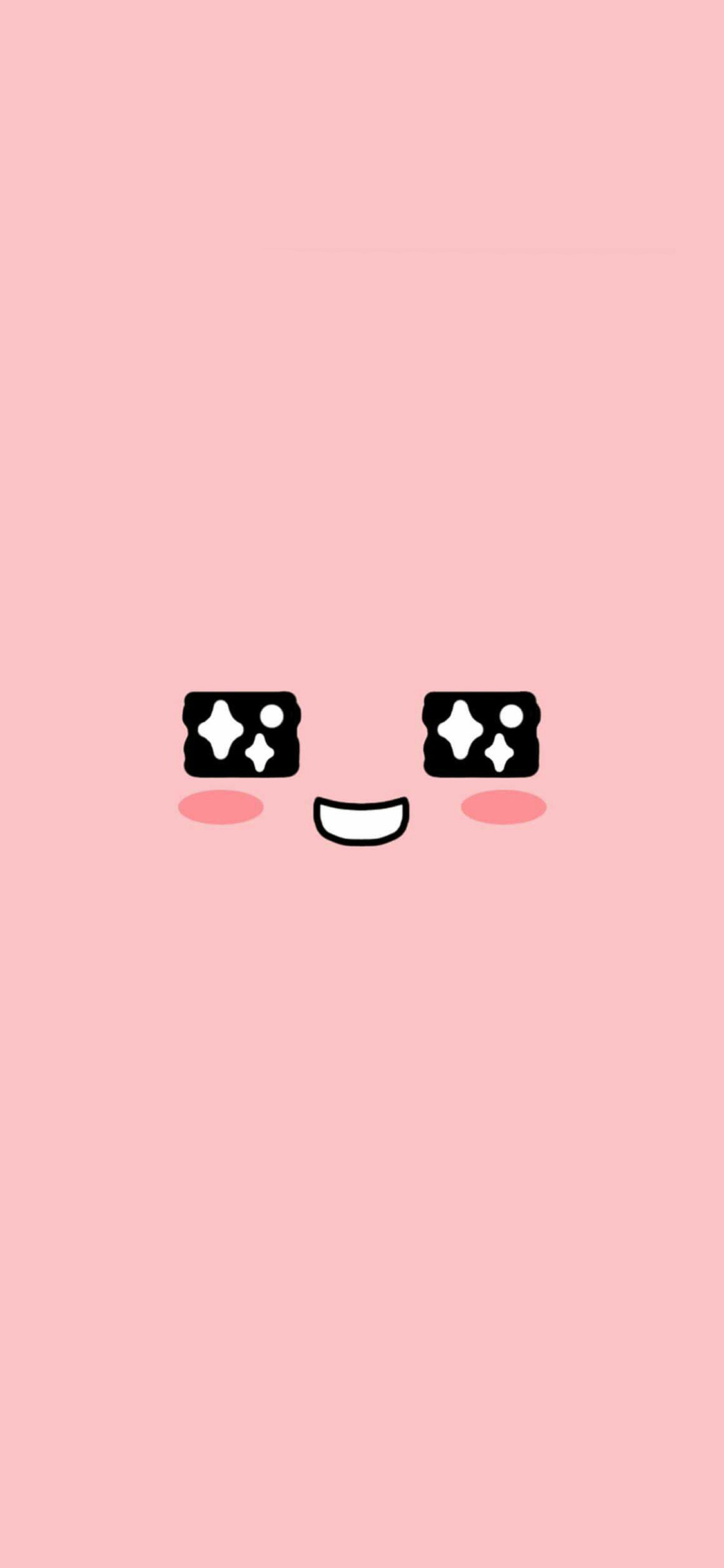 Minimalist Cute Desktop Wallpaper Bb55 Cute Kakao Face Pink Illustration Art Wallpaper