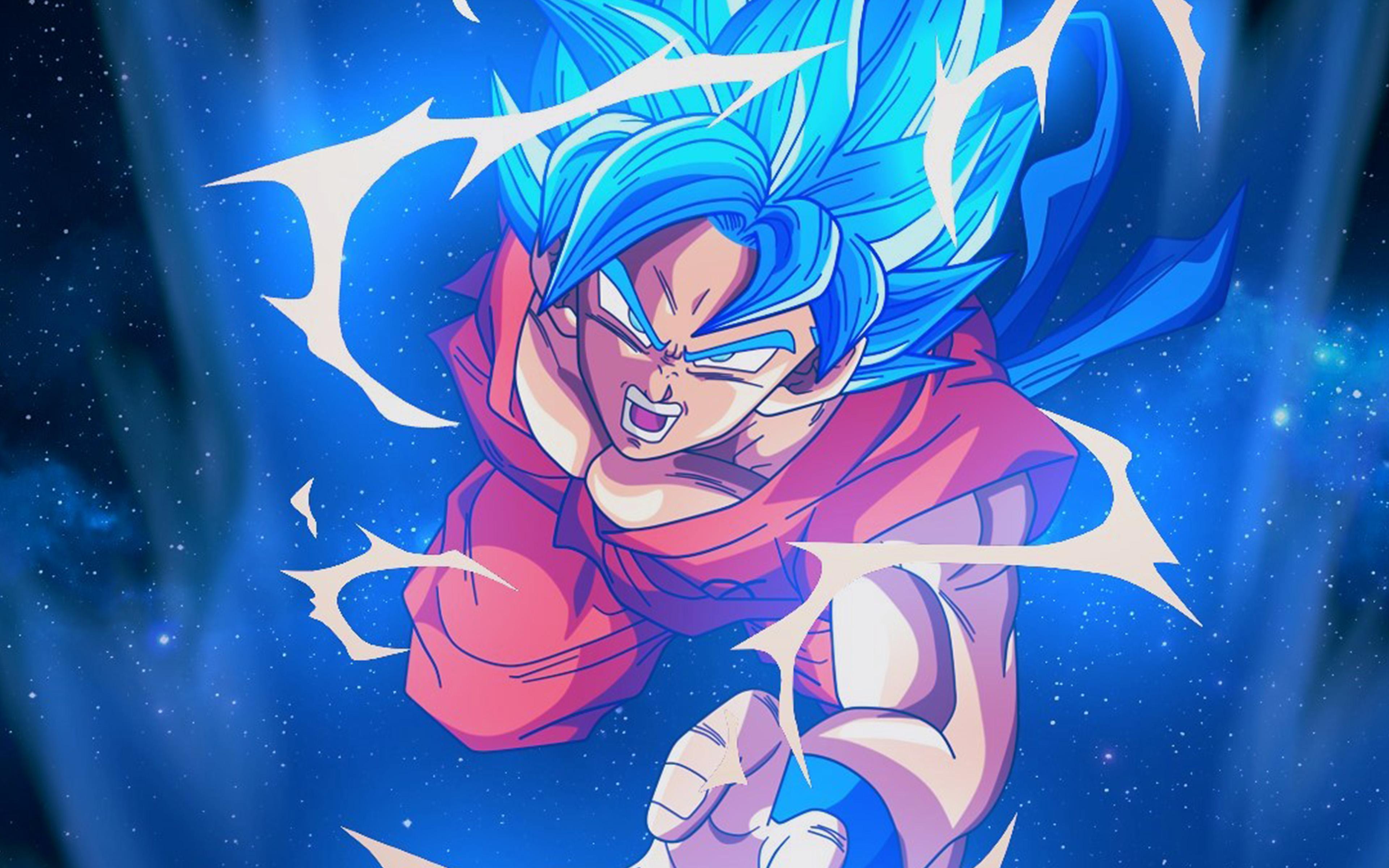 Goku Wallpaper Hd Bc54 Dragonball Goku Blue Art Illustration Anime Wallpaper