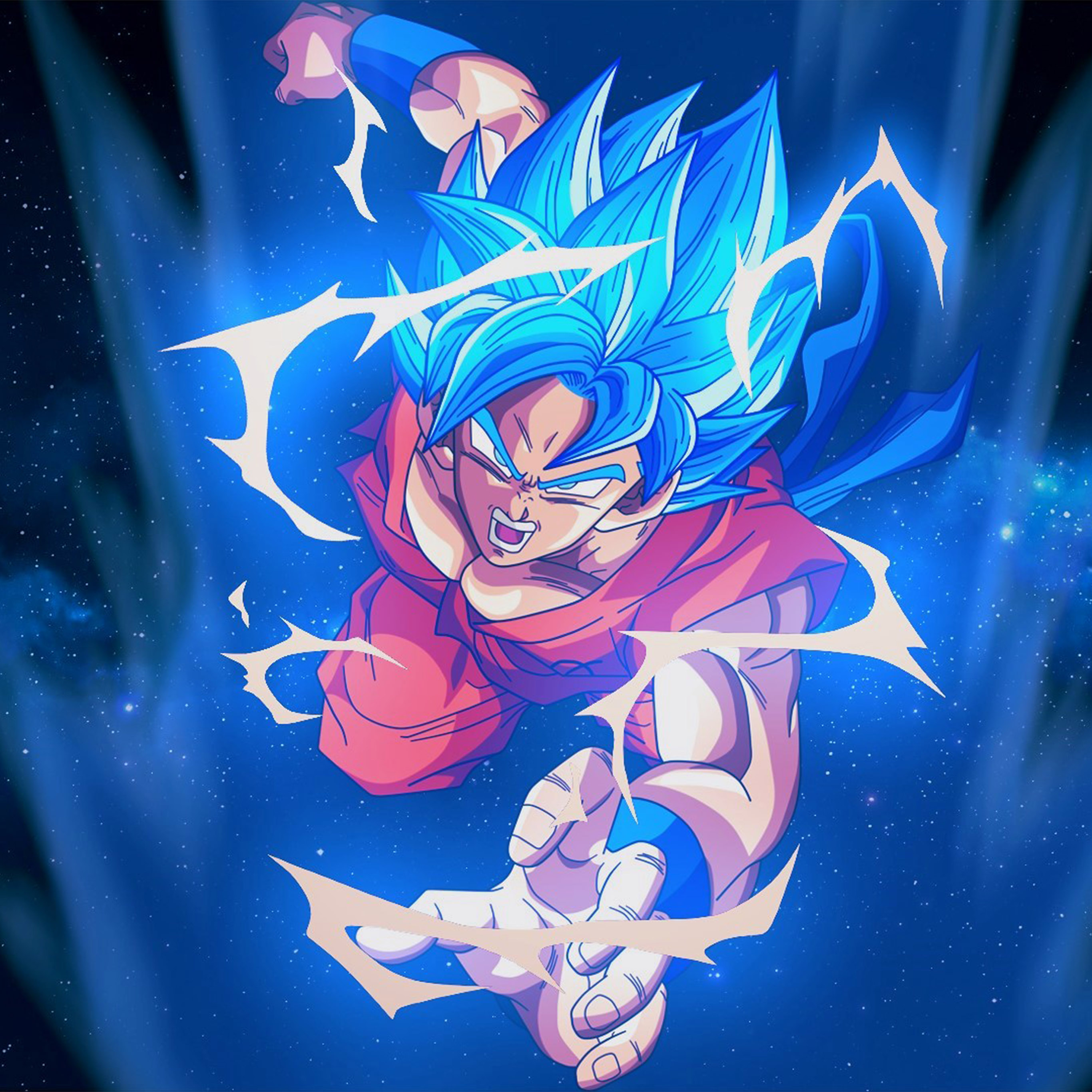 3d Wallpaper For Iphone Se Bc54 Dragonball Goku Blue Art Illustration Anime Wallpaper