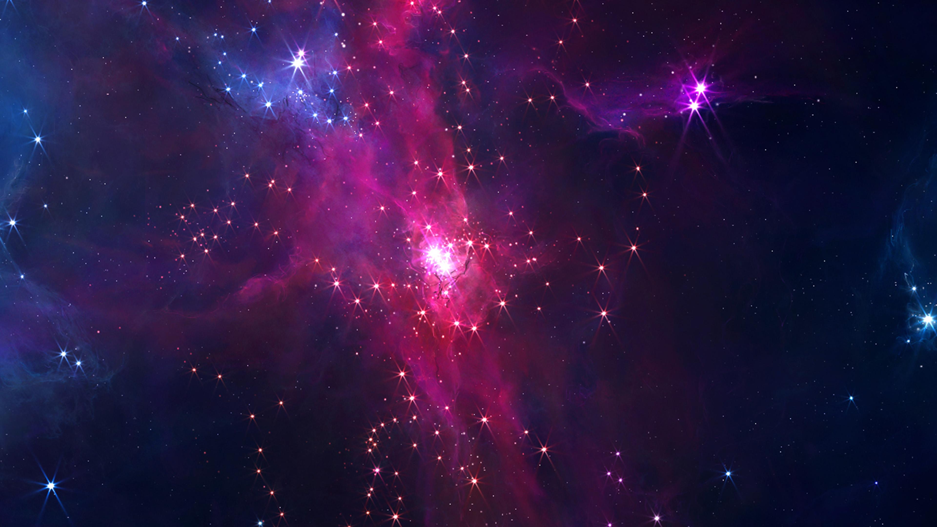 Live Photo Wallpaper Iphone Se Bc68 Space Star Red Blue Dark Sky Art Illustration Wallpaper