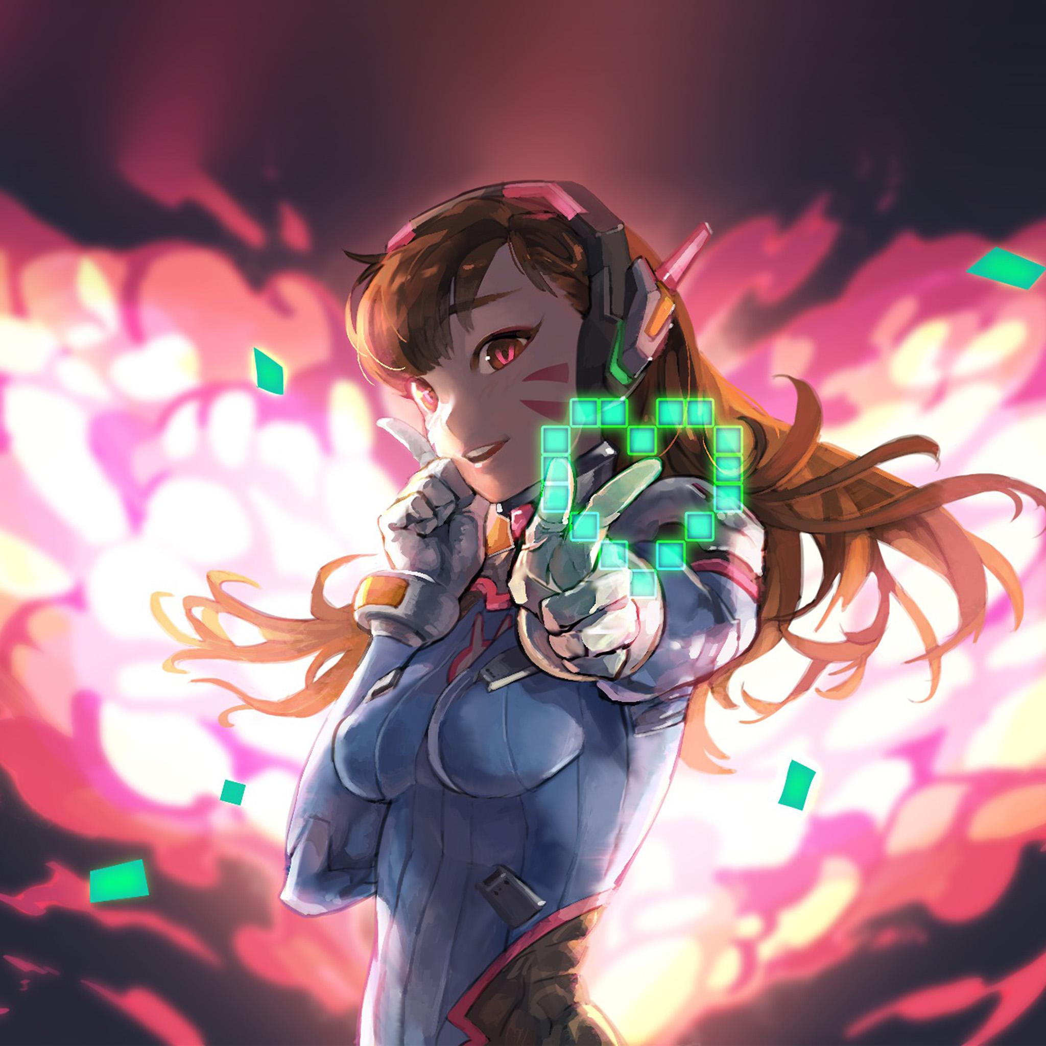Cute Tomboy Wallpaper Bc70 Diva Girl Anime Game Overwatch Art Illustration Wallpaper