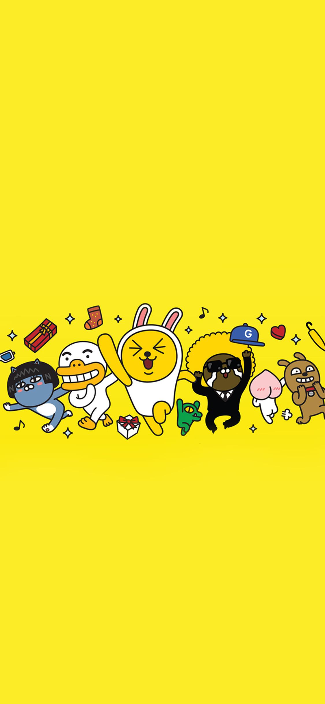 Friends Wallpaper Hd Bc88 Kakao Yellow Friends Anime Art Illustration Wallpaper