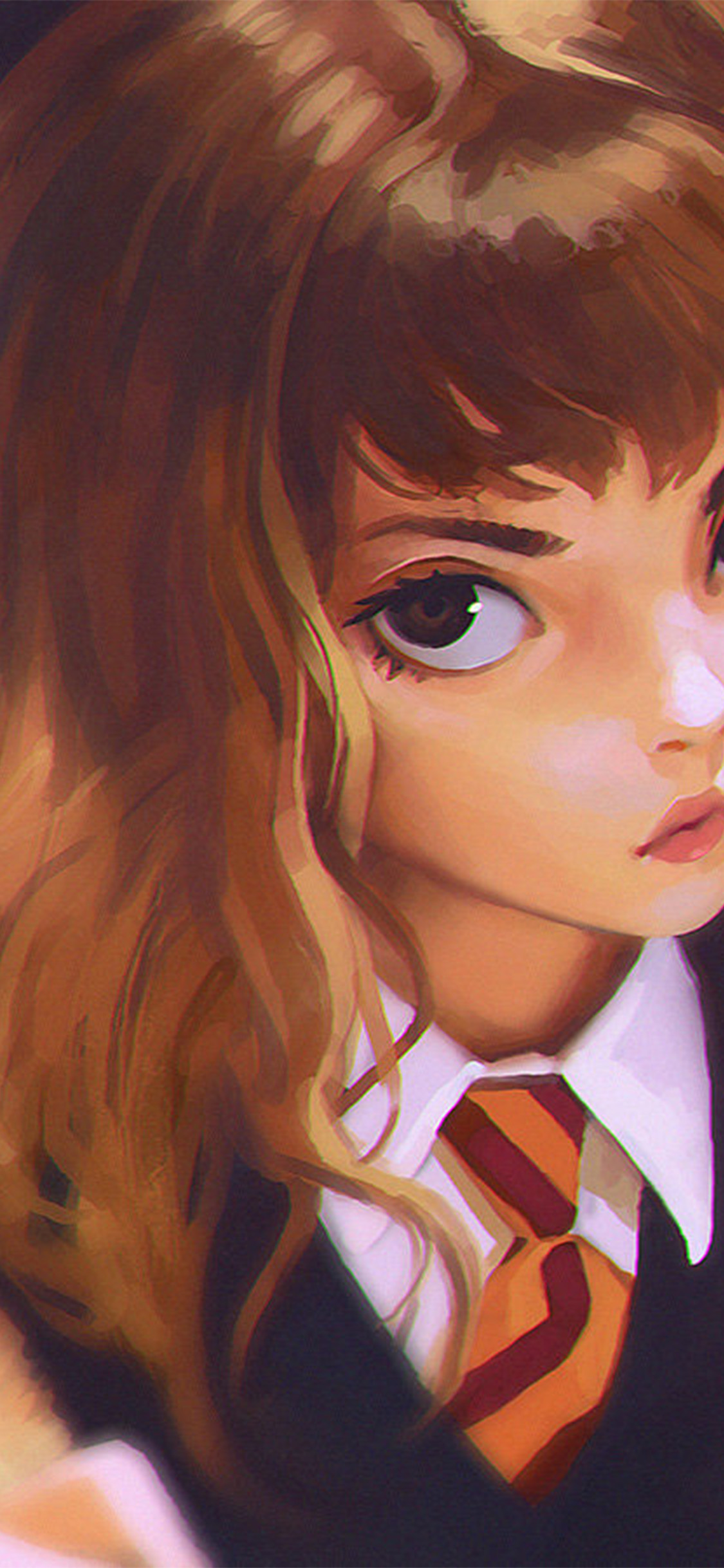 Cute Pastel Wallpaper For Iphone Bd65 Hermione Harry Potter Liya Art Illustration Wallpaper