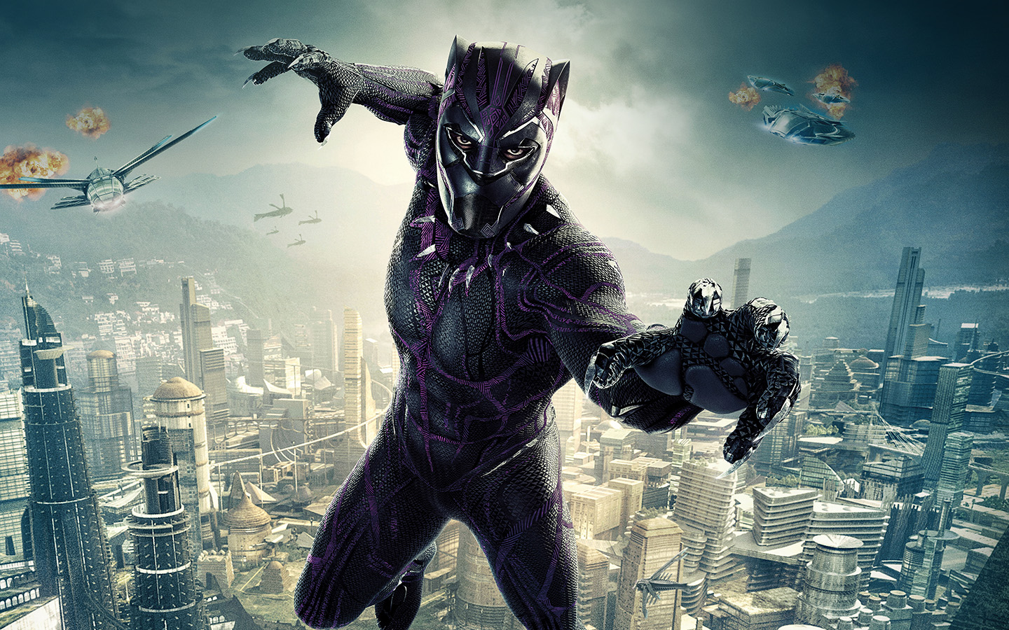 Lg Optimus Wallpaper Hd Be00 Marvel Film Hero Blackpanther Art Illustration Wallpaper