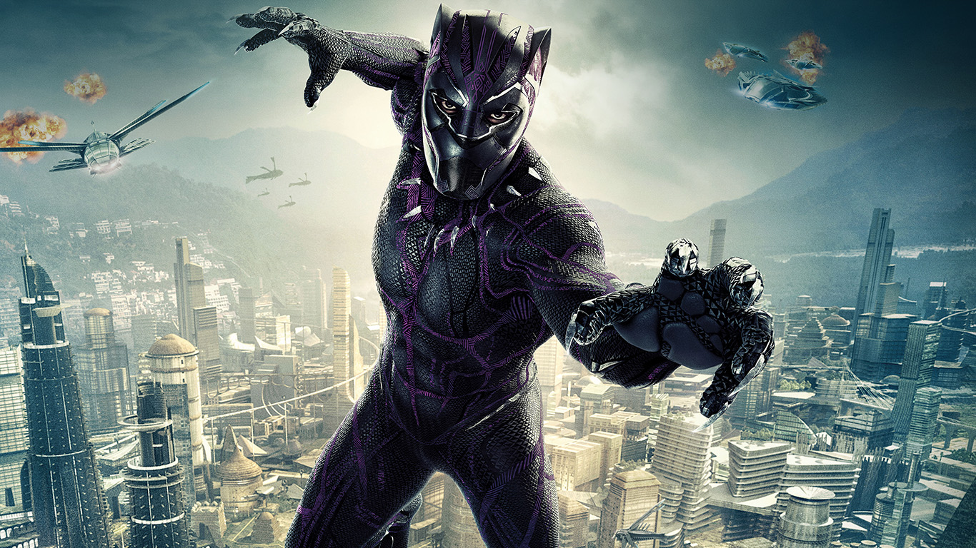 Fall Laptop Wallpaper Be00 Marvel Film Hero Blackpanther Art Illustration Wallpaper