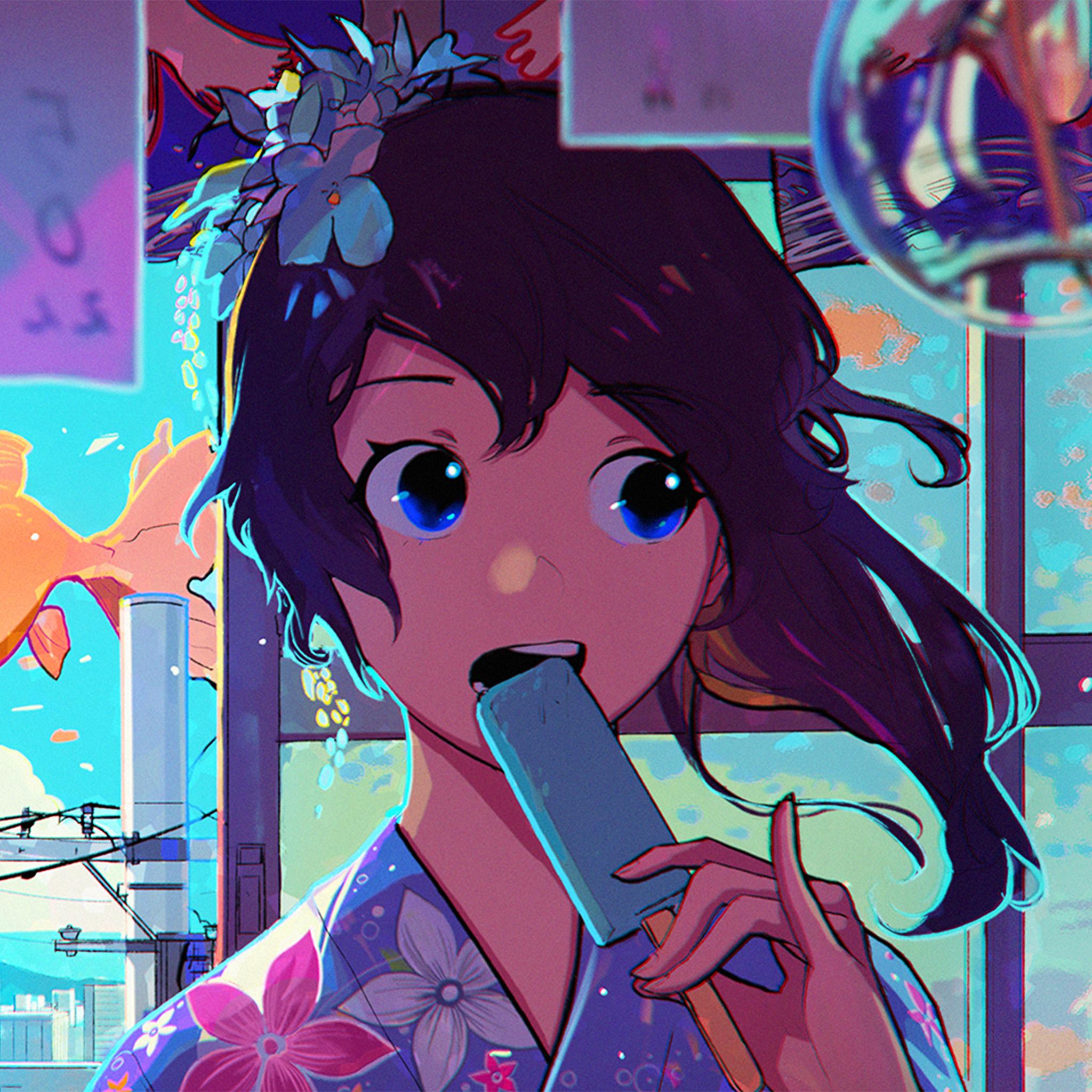 Girl And Car Iphone Wallpaper Be23 Girl Face Anime Art Illustration Wallpaper