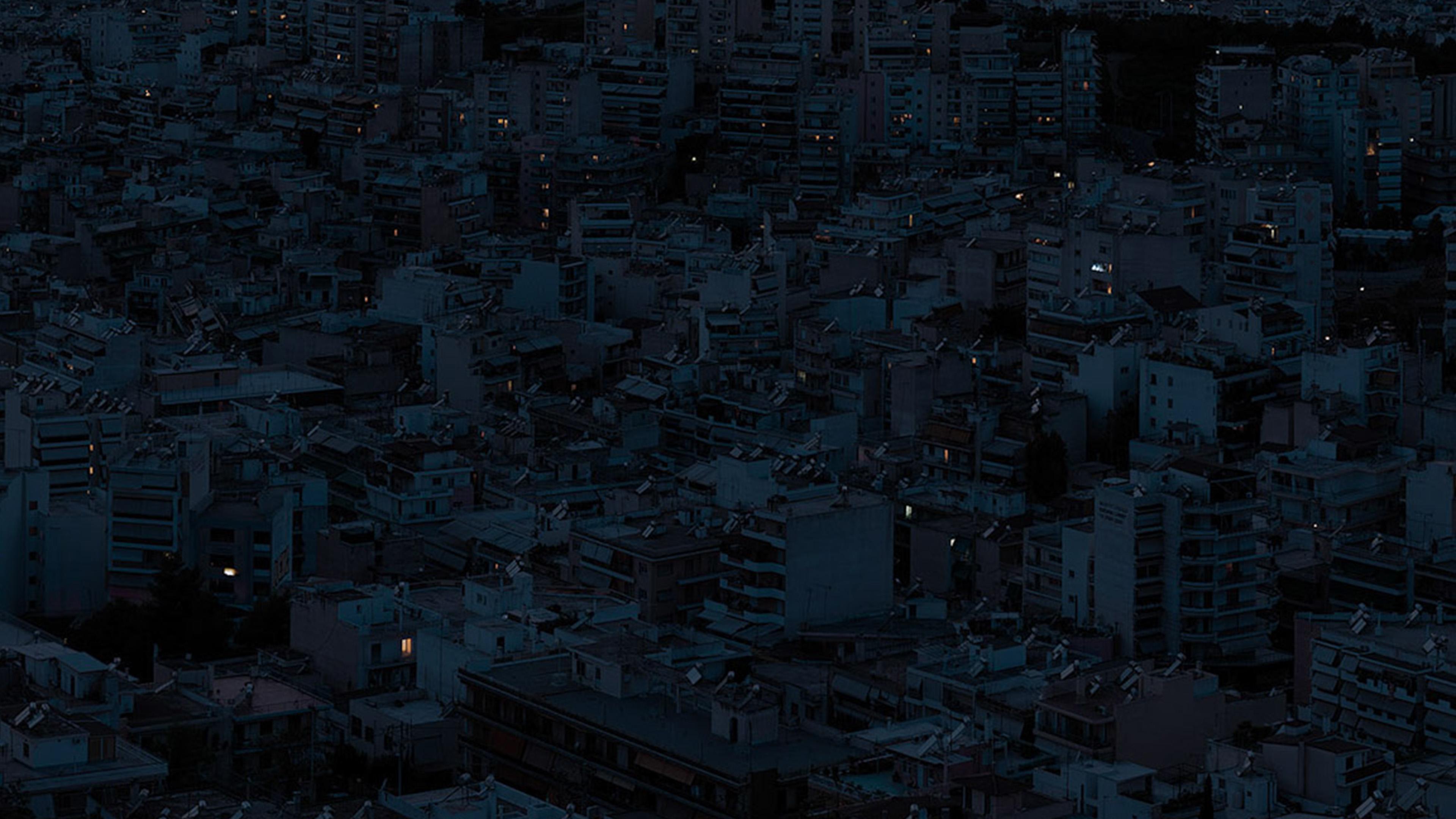 White Blue Wallpaper Hd Be37 Dark City Night Art Illustration Wallpaper