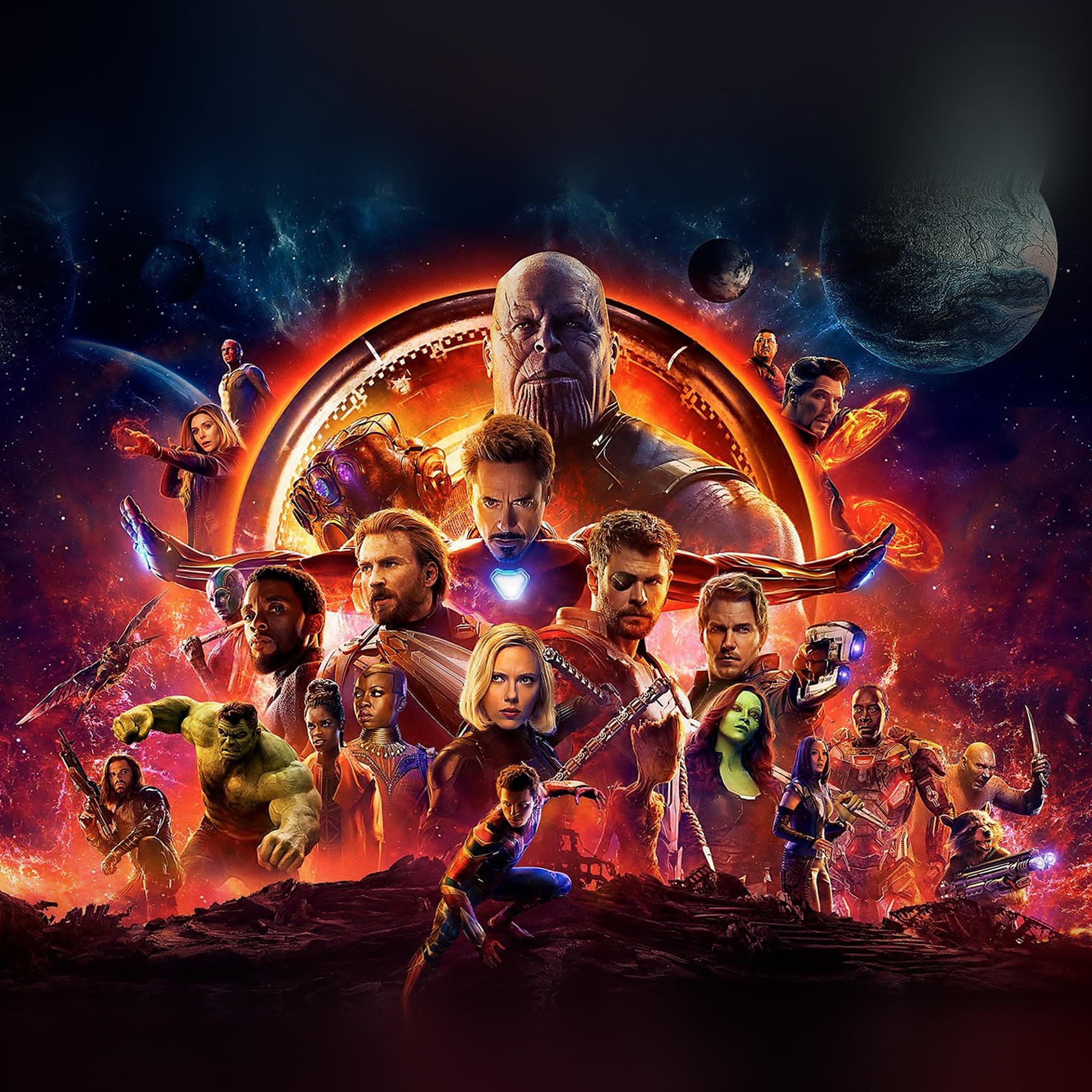 Iphone 5 Car Wallpaper Be47 Infinity War Marvel Avengers Hero Art Illustration