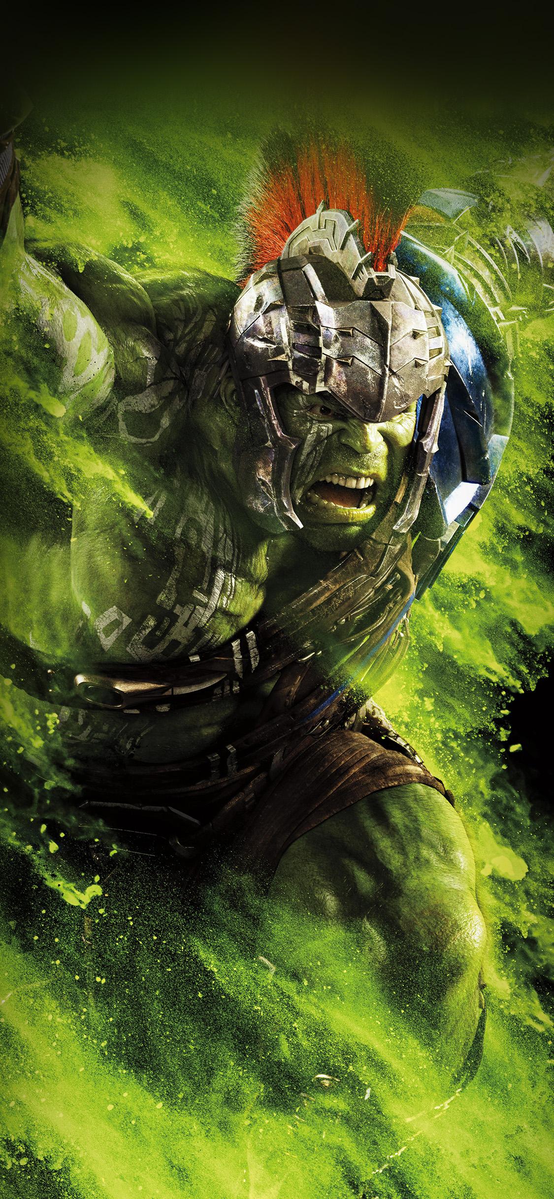 Broken Car Pictures Wallpaper Be57 Hulk Ragnarok Red Film Marvel Hero Art Illustration