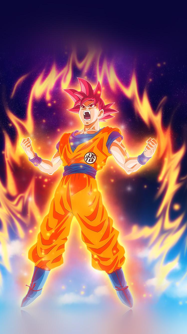 Goku Wallpaper Hd Be62 Dragon Ball Fire Art Illustration Hero Anime Wallpaper