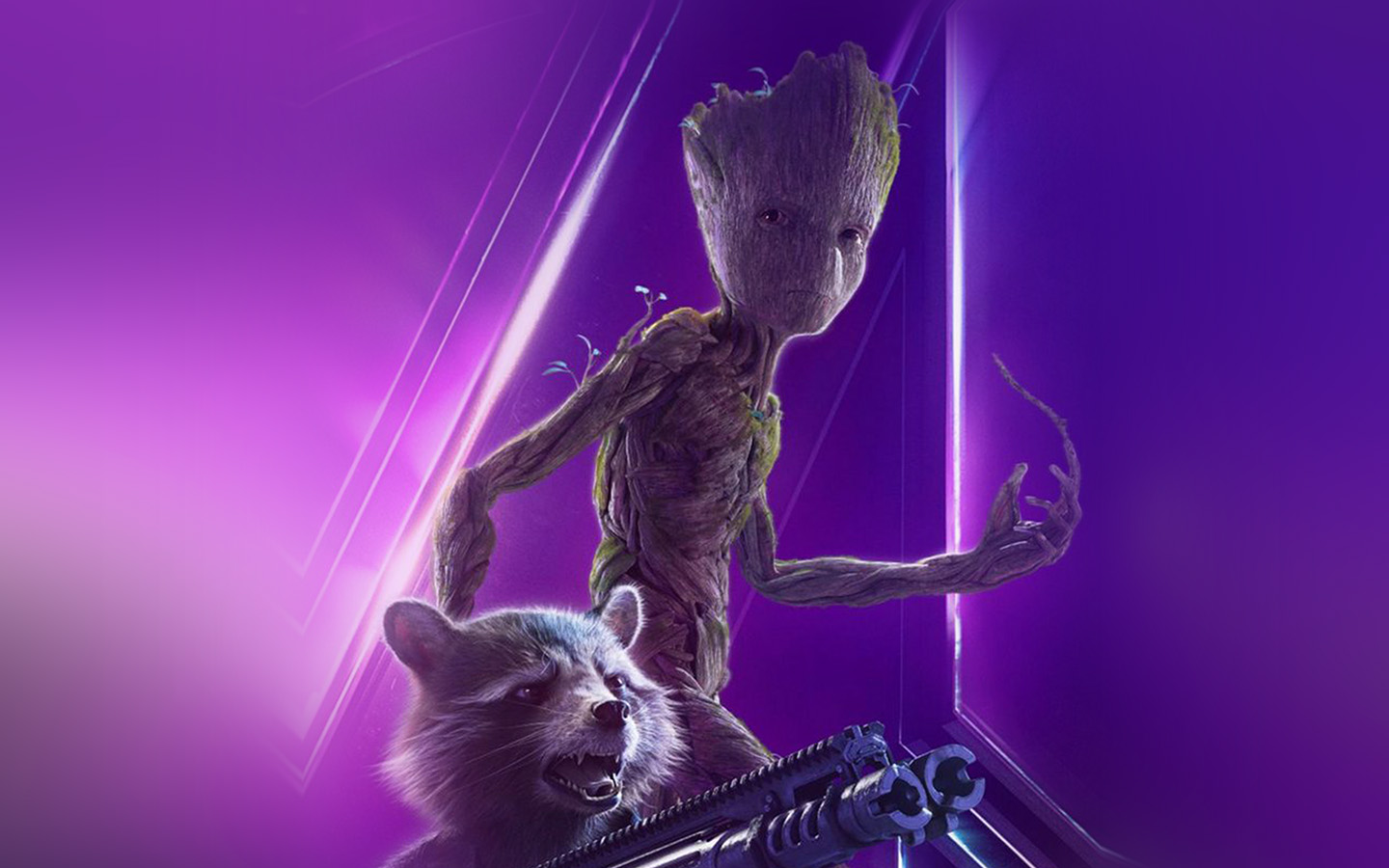 Google Image Cute Wallpapers Be87 Groot Rocket Marvel Hero Film Avengers Art Wallpaper