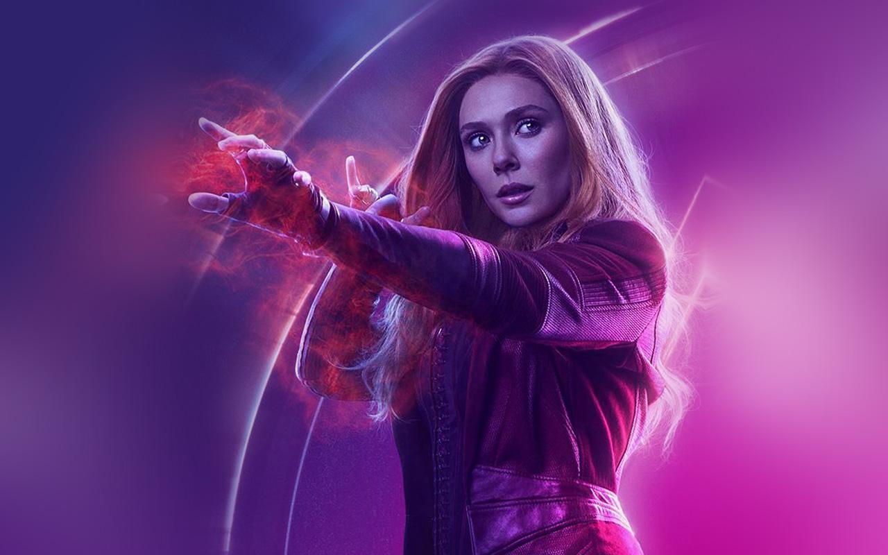 Fall Hd Wallpaper Iphone Be91 Scarlet Witch Avengers Film Hero Marvel Art Wallpaper