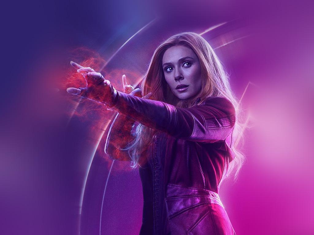 Android Wallpaper Fall Be91 Scarlet Witch Avengers Film Hero Marvel Art Wallpaper