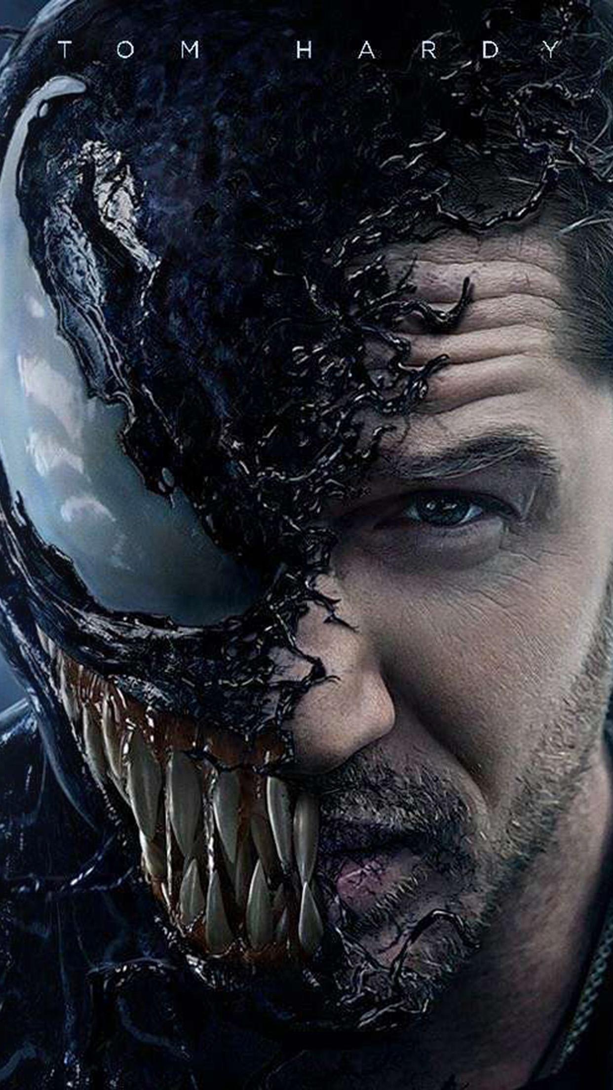 Hd Car Wallpaper For Iphone 6 Bg51 Venom Dark Poster Film Marvel Hero Art Wallpaper