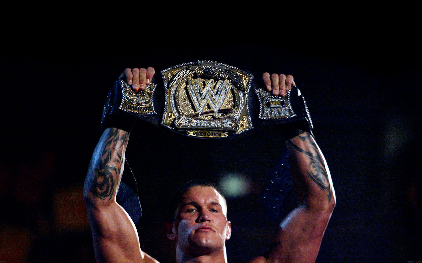 Fall Ipad Wallpaper Hd Ha91 Wallpaper Randy Orton With Belt Wwe Papers Co
