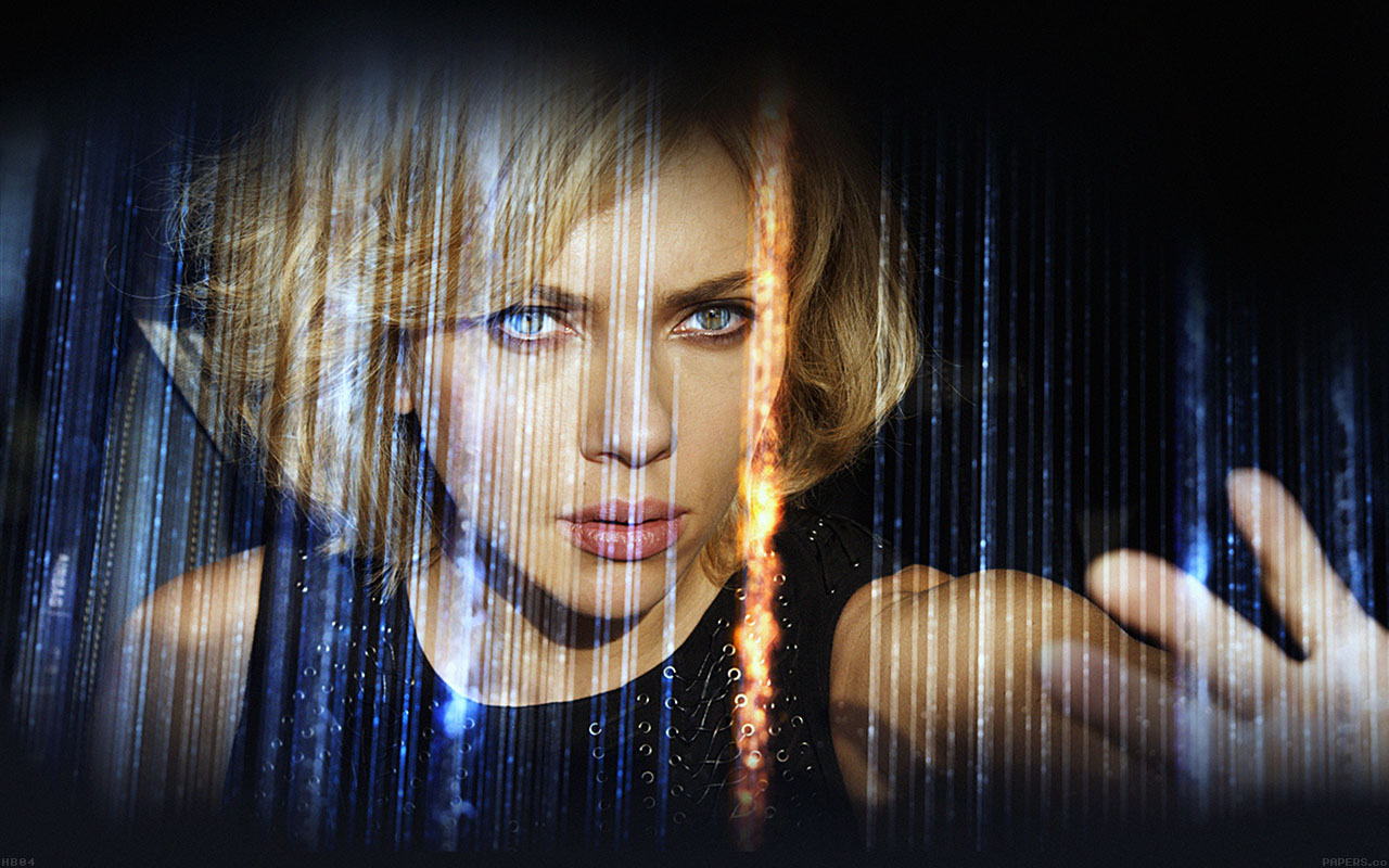 Abstract Girl Face Wallpaper Hb04 Wallpaper Lucy Film Scarlett Johansson Sexy Face