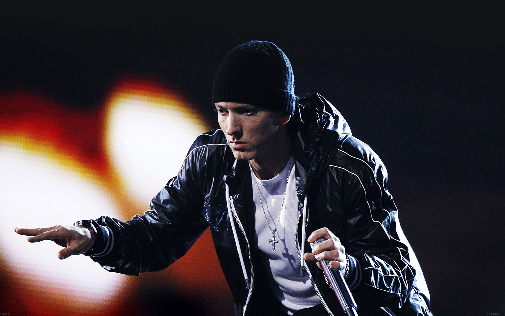 Hip Hop Wallpaper 3d Hb69 Eminem In Concert Papers Co