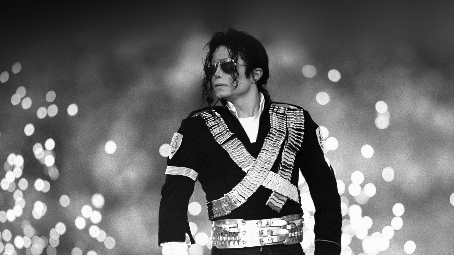 Fall Wallpaper For Desktop 1920x1080 Hc09 Michael Jackson Bw Concert King Of Pop Papers Co