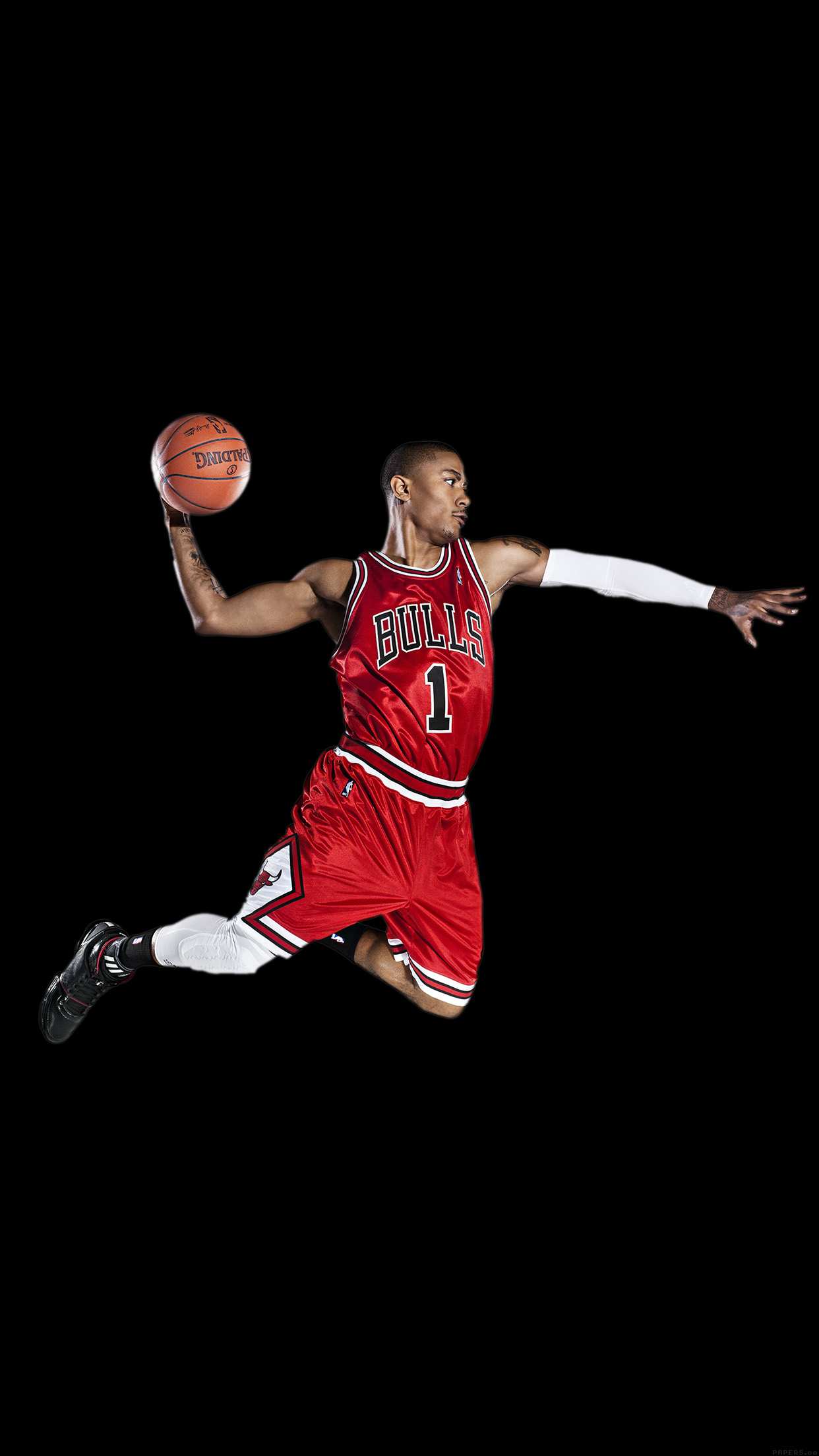 Chicago Bulls Wallpaper Iphone 6 Hd02 Chicago Bulls Derrick Rose Dark Sports
