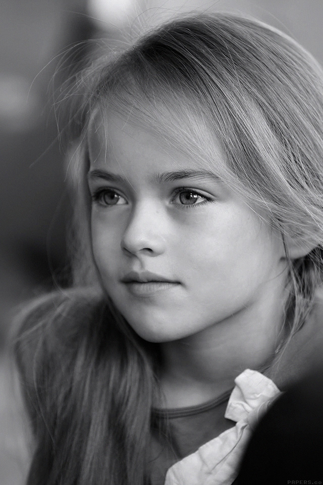 Cute Wallpapers Ipad App Freeios7 Hd74 Kristina Pimenova Cute Girl Model Bw Dark