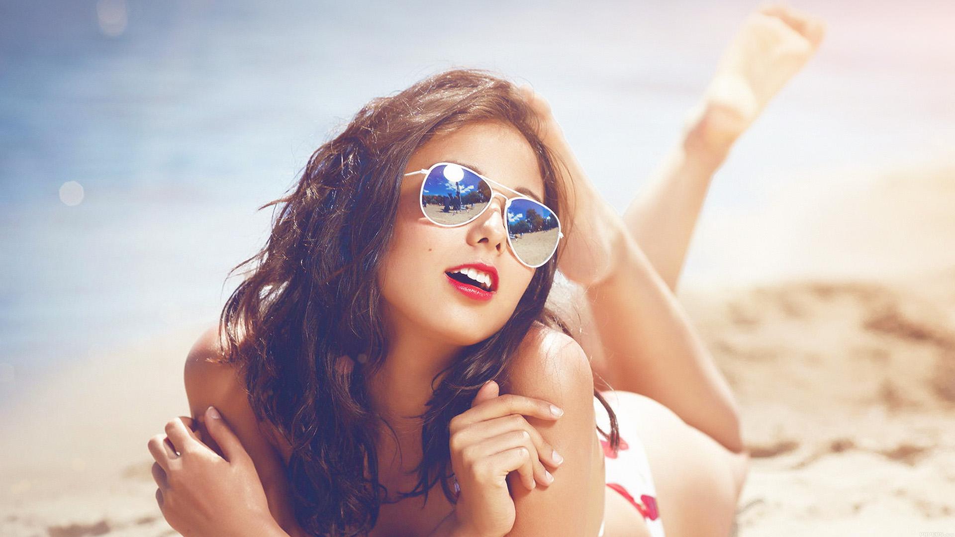 Anime Beach Girl Wallpaper Wallpaper For Desktop Laptop He65 Beach Girl Sunglasses