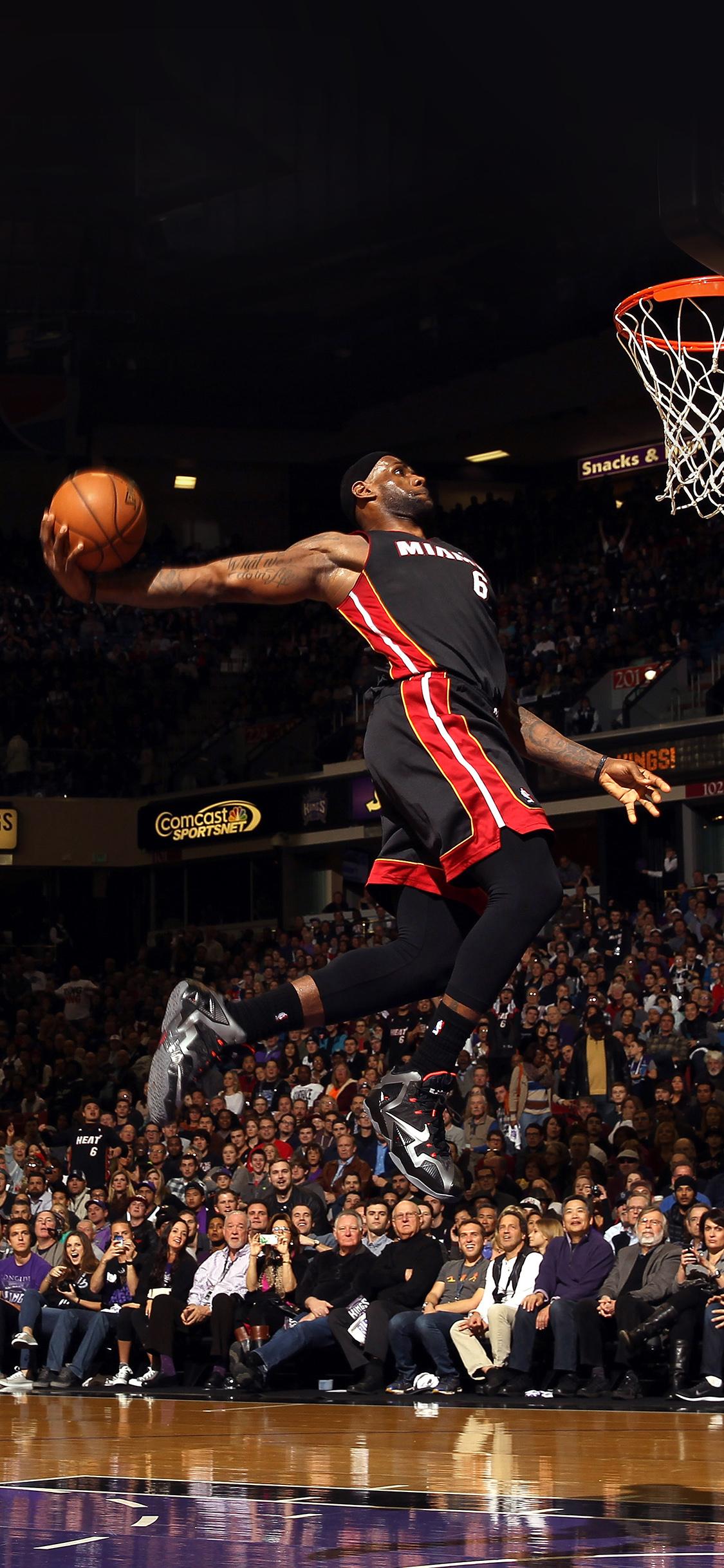 Car Wallpaper Hd Iphone 4 He99 Lebron James Dunk Nba Sports Art Basketball Papers Co