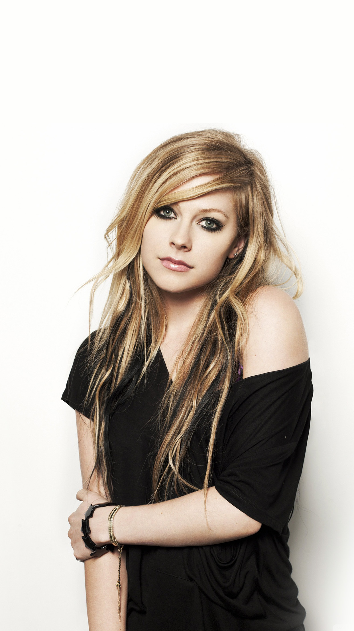 Htc One Wallpaper Hd Hg32 Avril Lavigne Music Star Beauty Papers Co