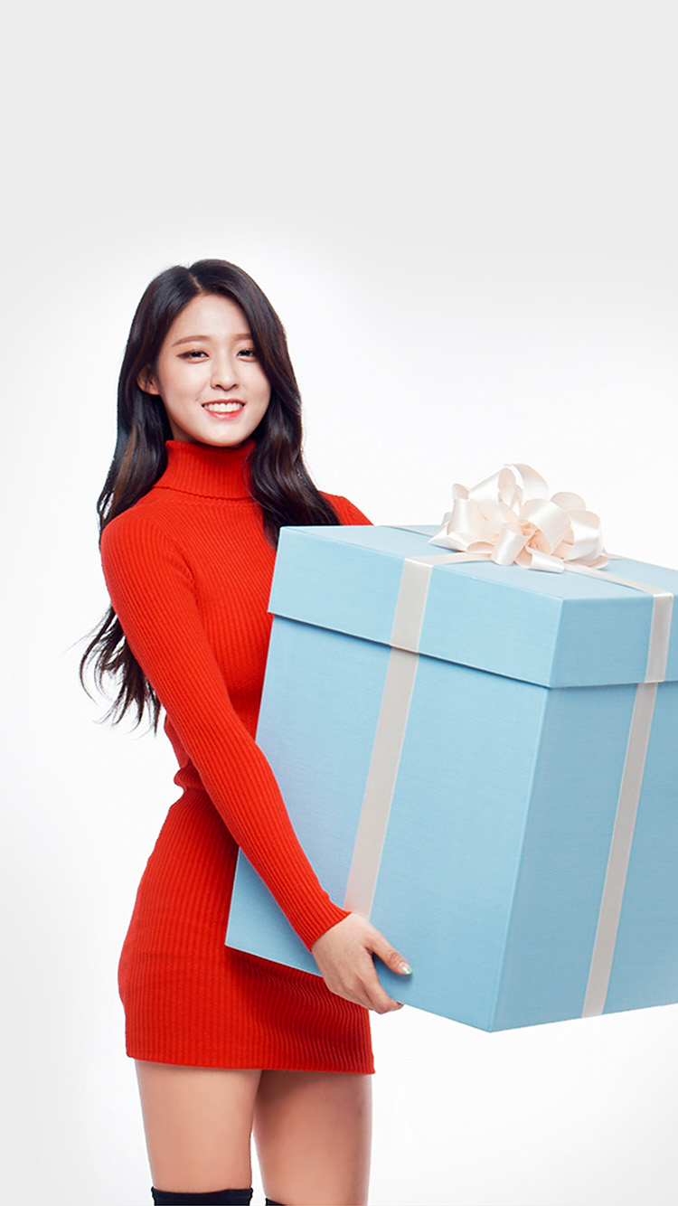 Girl Wallpaper For Iphone 5 Hh11 Aoa Seolhyun Cute Chirstmas Girl Kpop Papers Co