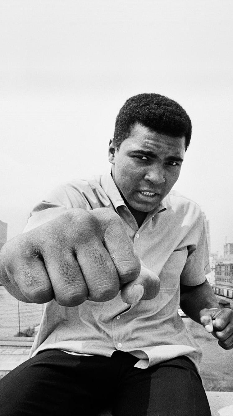 Lg Optimus Wallpaper Hd Hj05 Muhammad Ali Boxing Legend Sports Bw Wallpaper