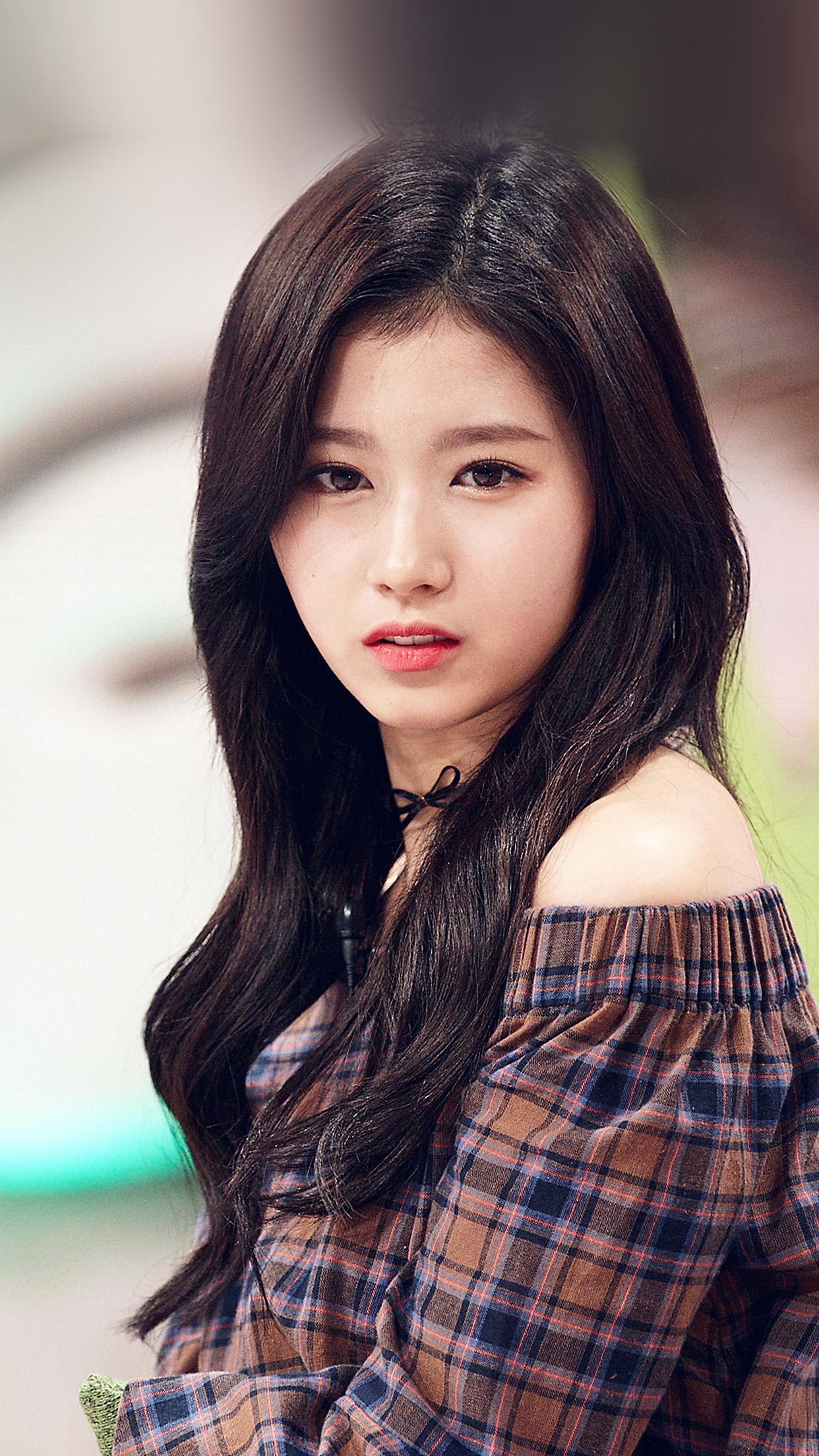 Cute Pattern Iphone 5 Wallpaper I Love Papers Hl09 Sana Kpop Cute Girl Celebrity