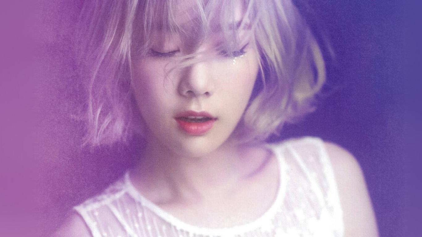 Girls Wallpapers Samsung Hl10 Taeyeon Kpop Snsd Purple Pink Girl Wallpaper