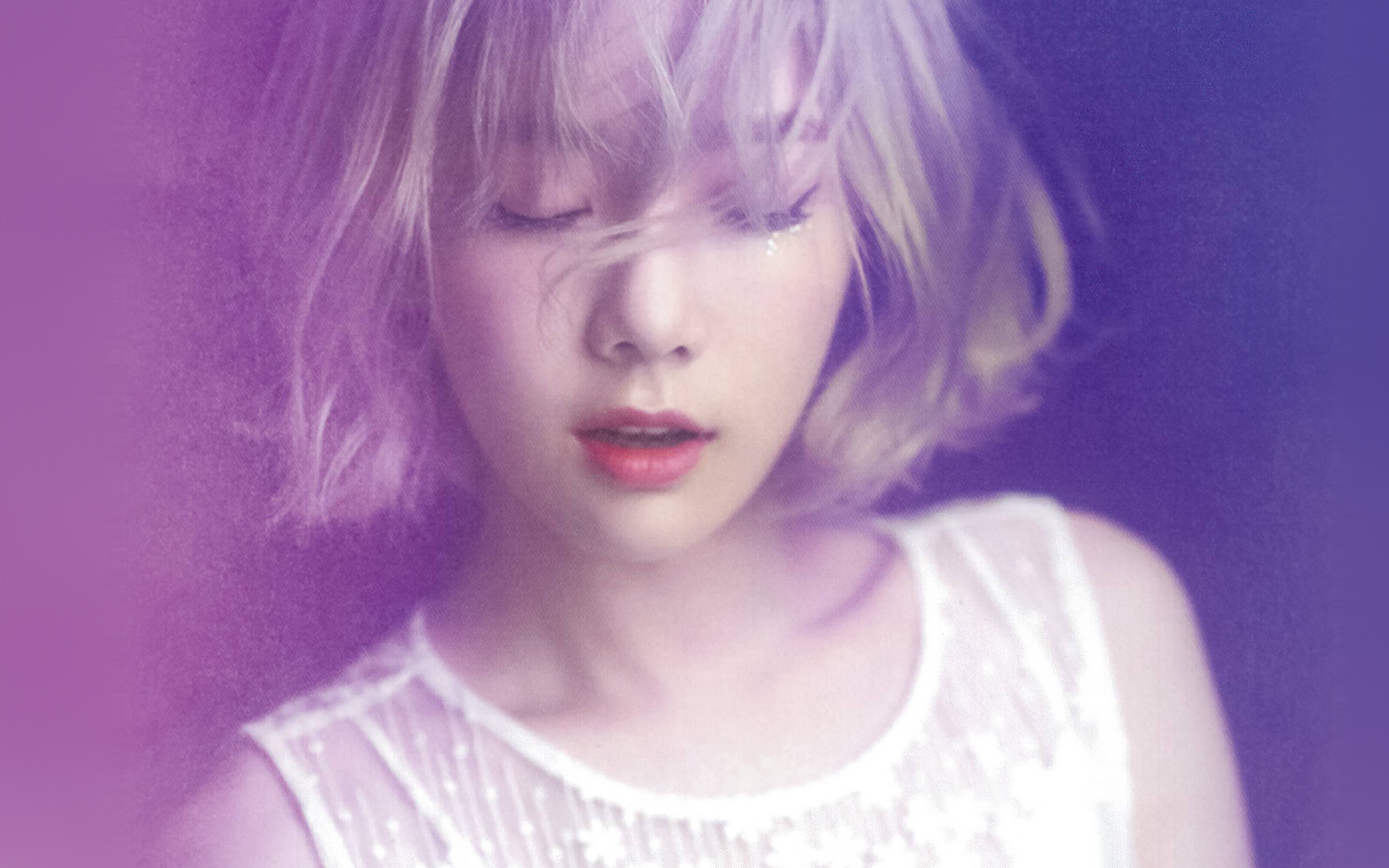 Cute Girly Wallpapers For Android Hl10 Taeyeon Kpop Snsd Purple Pink Girl Wallpaper